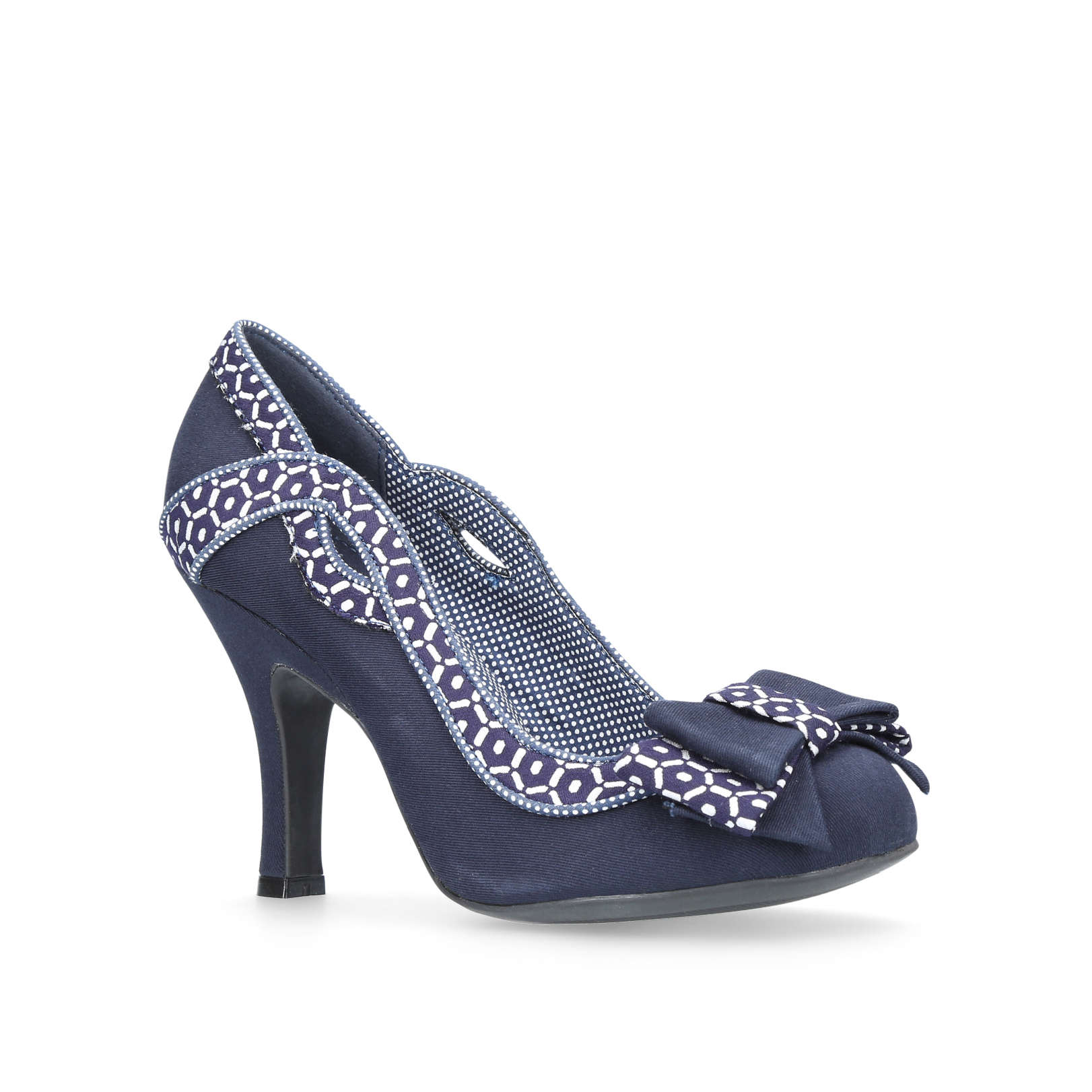 IVY Ruby Shoo Ivy Navy Fabric   Other Occasion Heels by RUBY SHOO a61865a3524b
