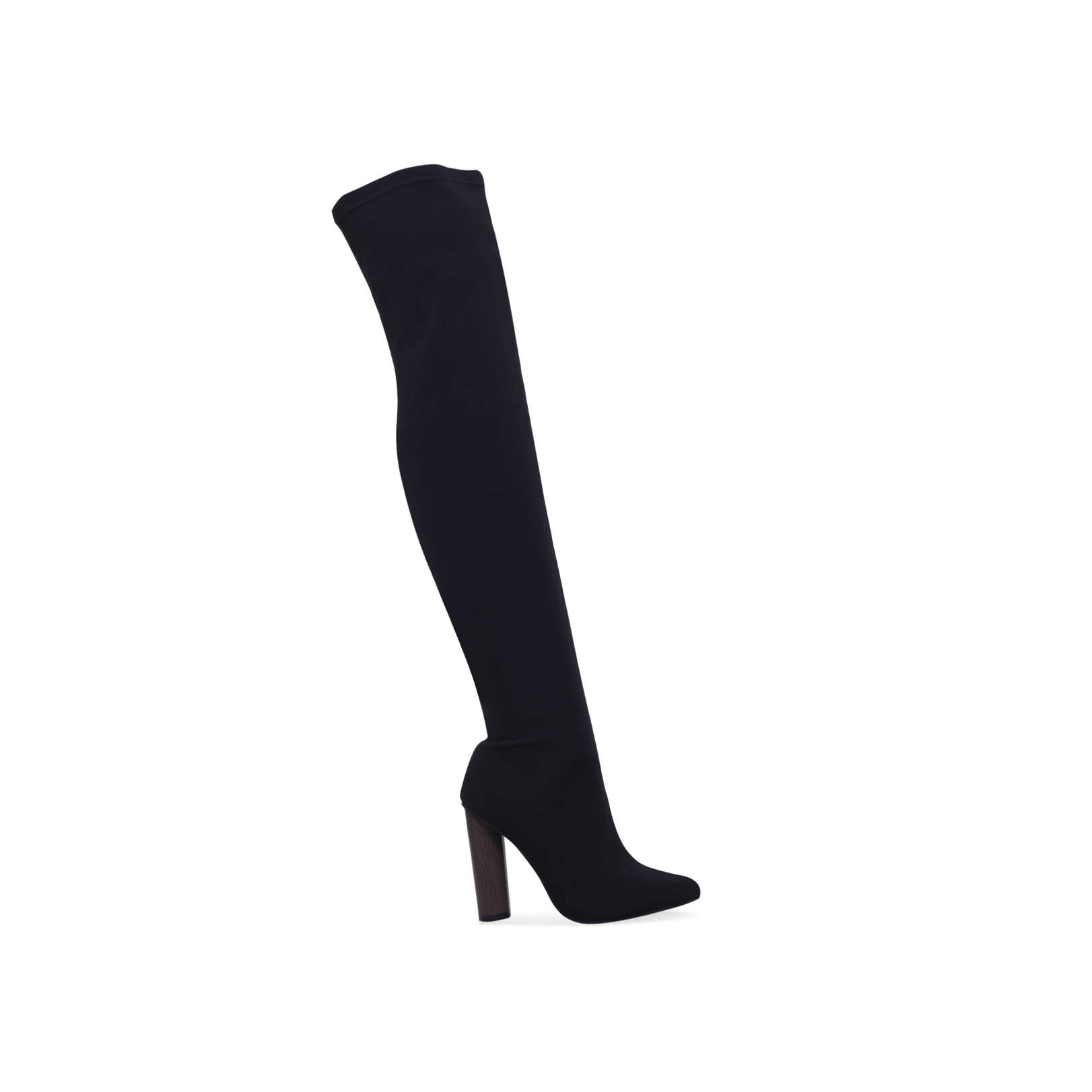 1a7a15658750 WHAM Truffle Collection Wham Black High Leg Boots Heel Over The Knee Boot  by TRUFFLE COLLECTION