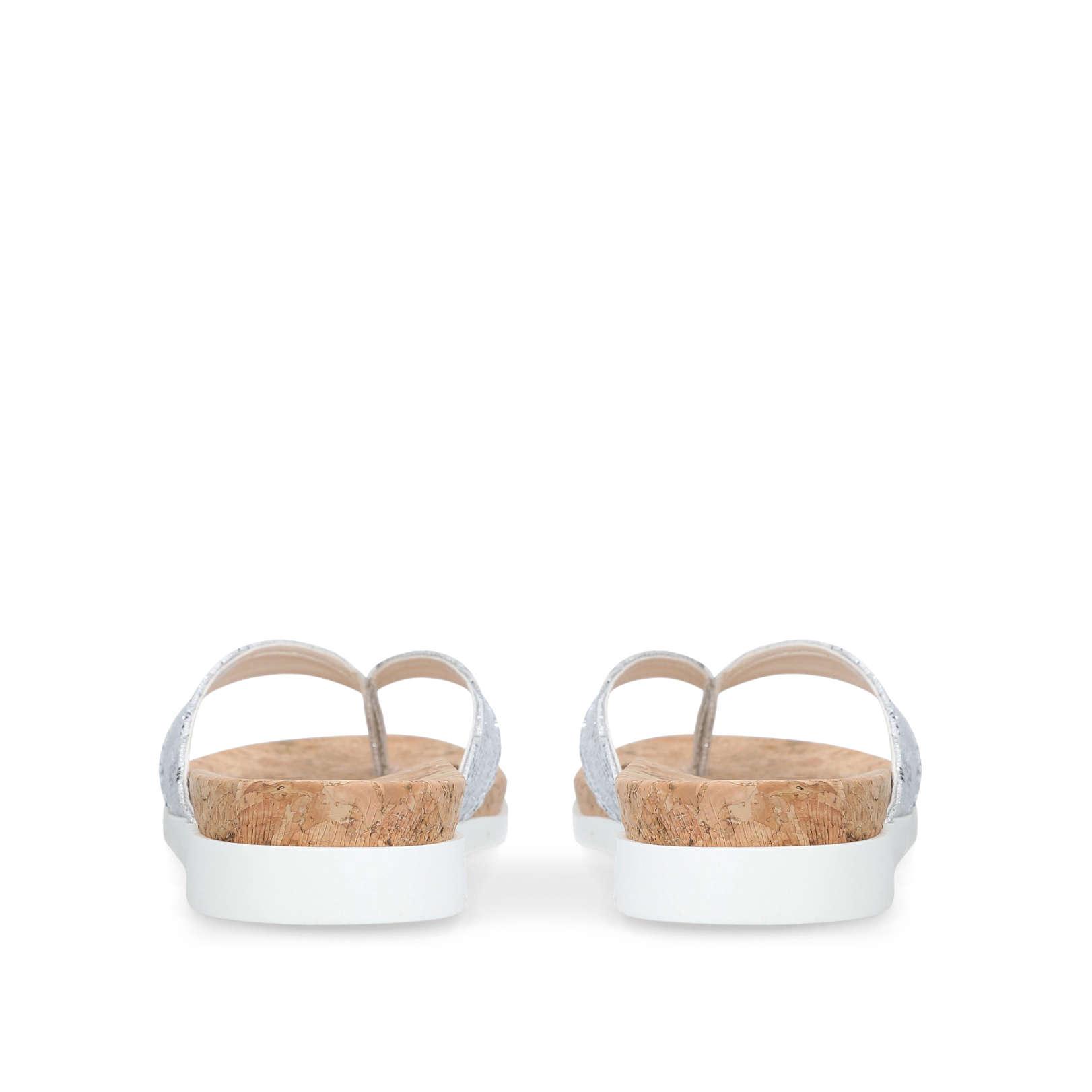 1de3cdbf6 BARB  Carvela Barb Silver Glitter Sandal  by CARVELA
