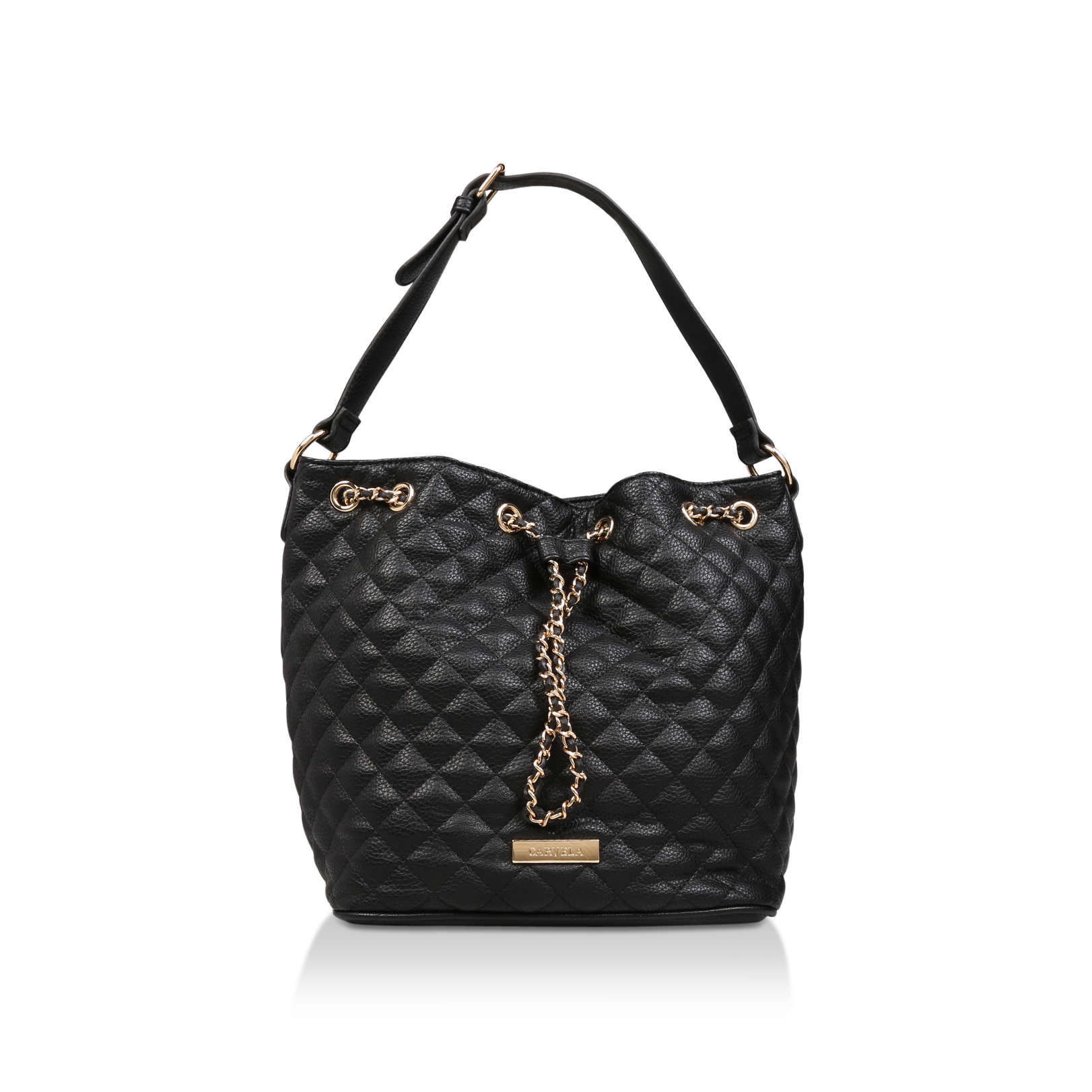 BILLIE QUILTED BUCKET BAG