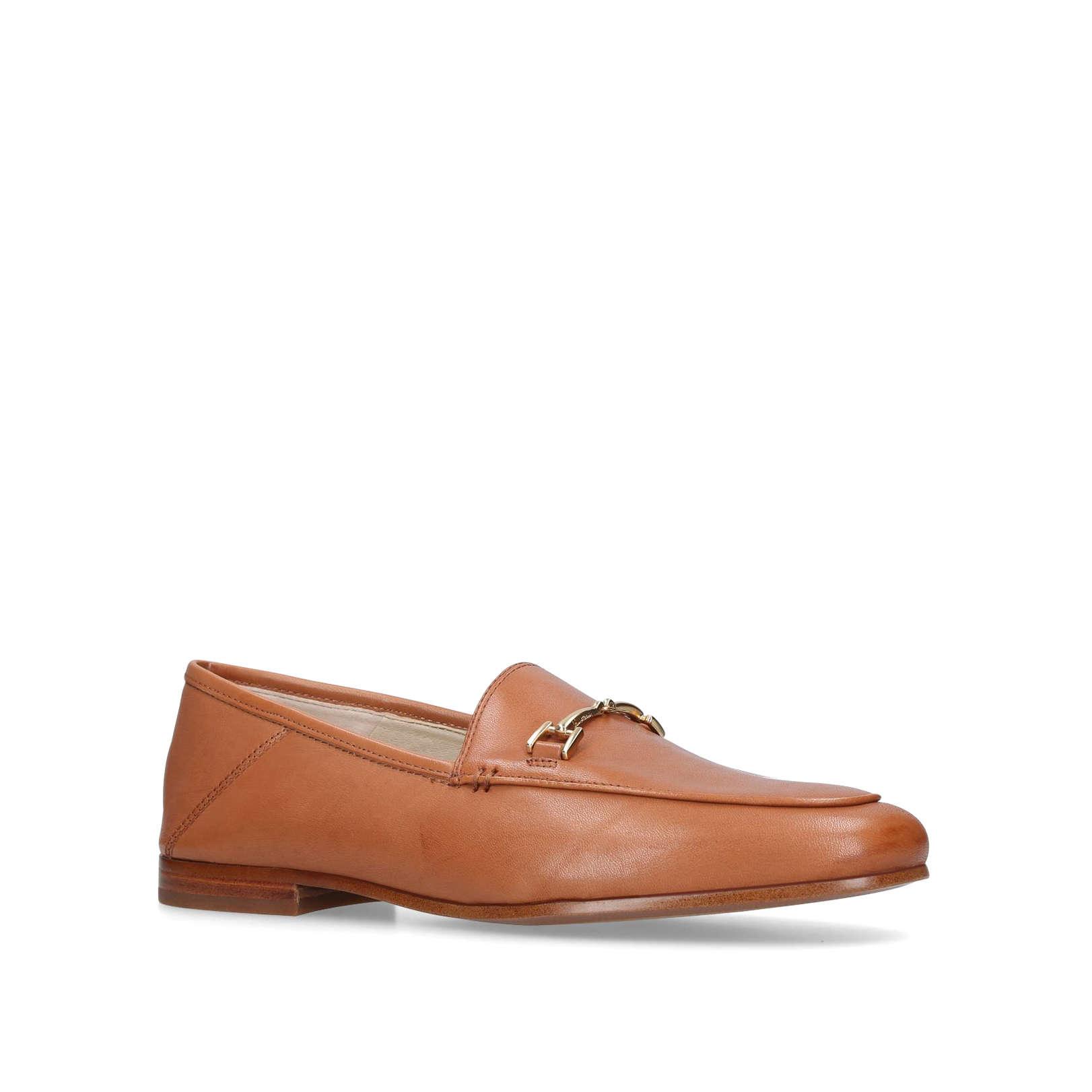 76607e209 LORAINE LOAFER Loraine Loafer No Heel Flats Sam Edelman Brown by SAM EDELMAN