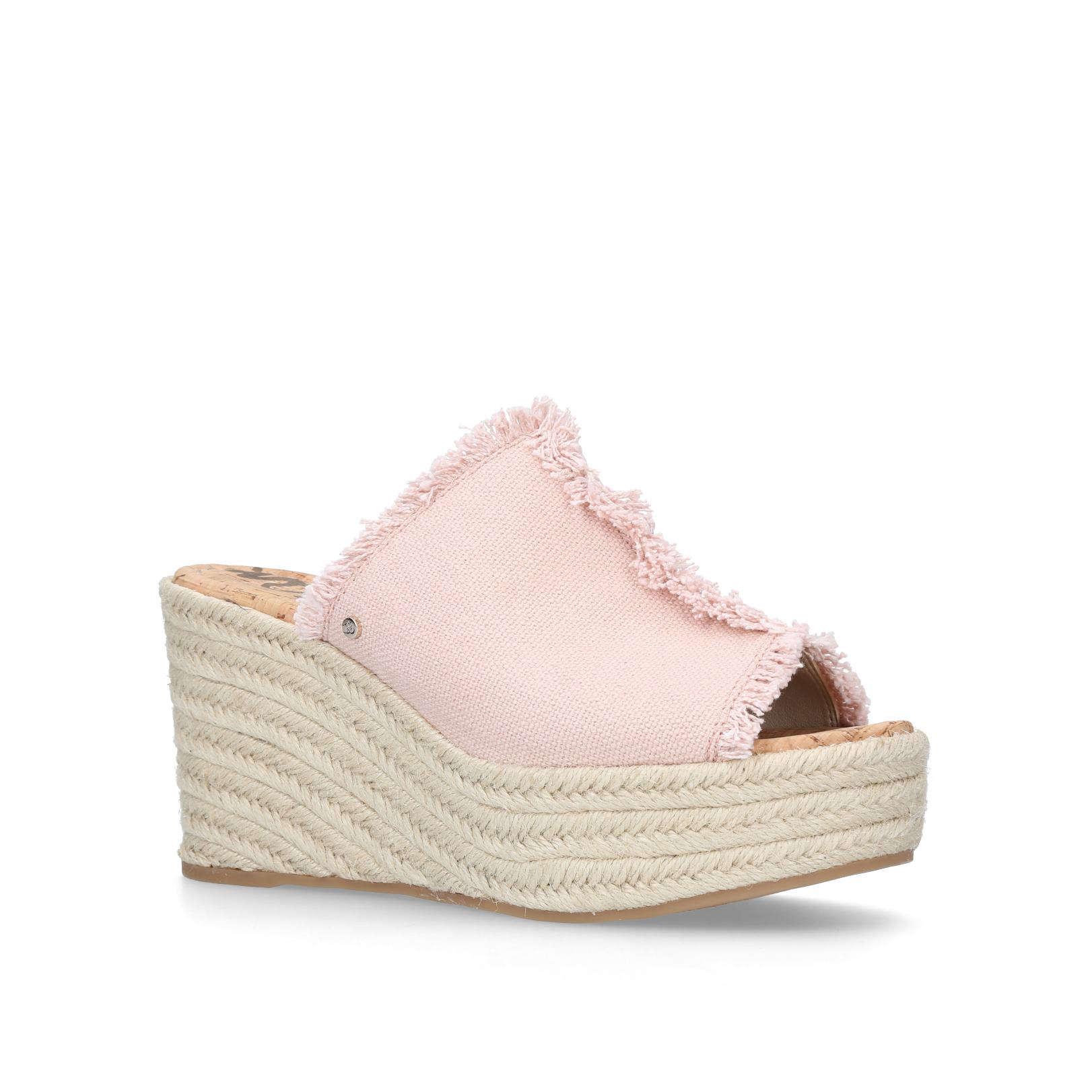 2439de42e50ffc DINA WEDGE 90 Dina Wedge 90 Sam-Edel Summer Pink Comb Mule by SAM ...
