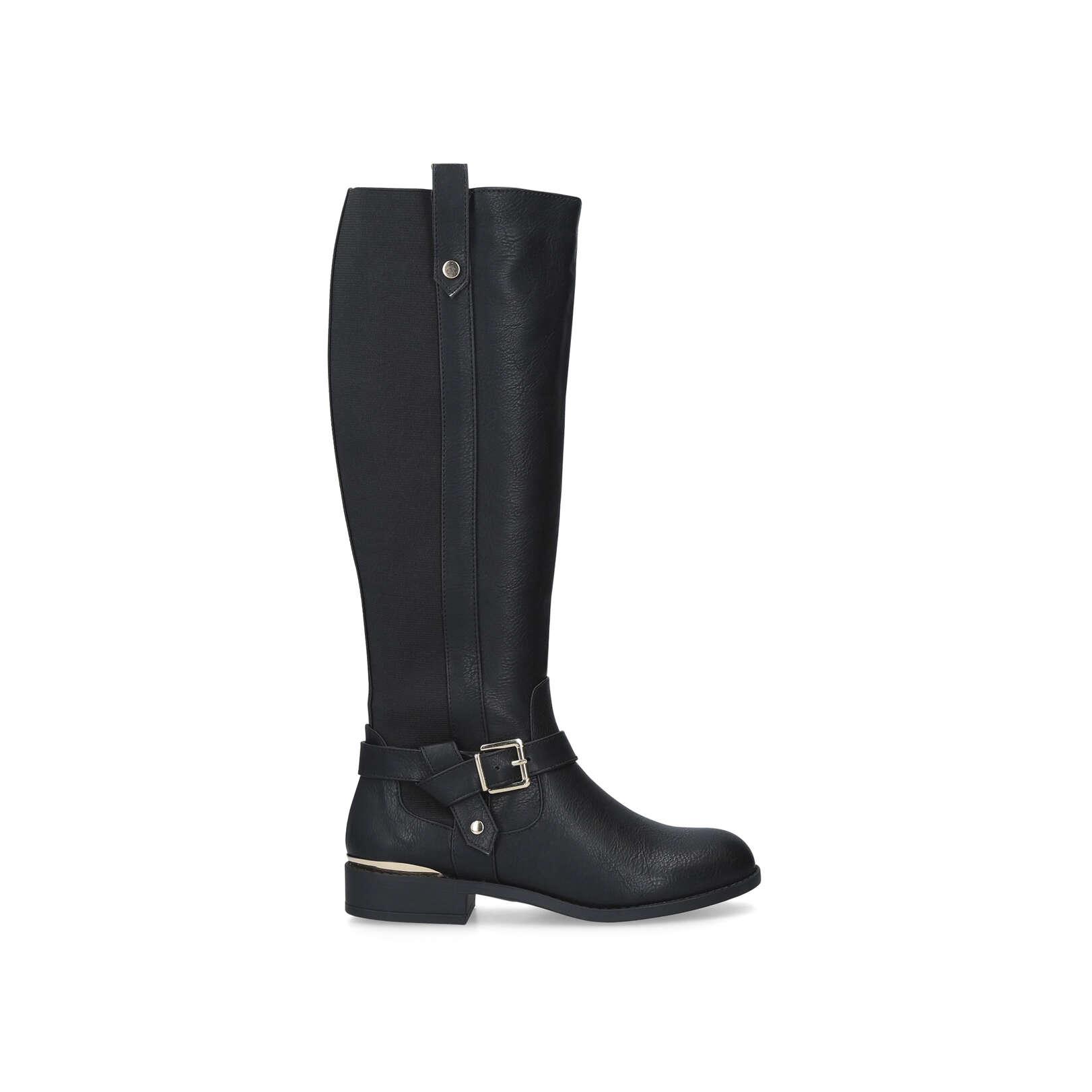 55a0a3dde32 TAYLOR Taylor No Heel High Leg Boots Carvela Comfort Black by CARVELA  COMFORT