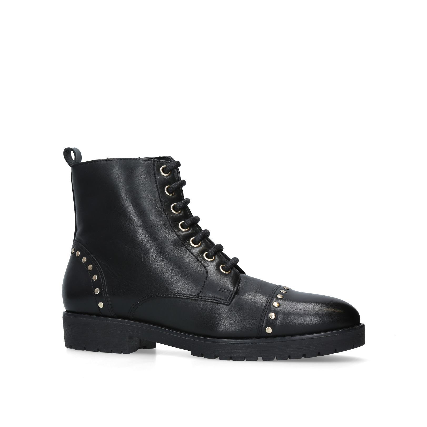 1dde1684be8 STEADY Steady Carvela Ankle Boots No Heel Black lace up boots biker boots  by CARVELA