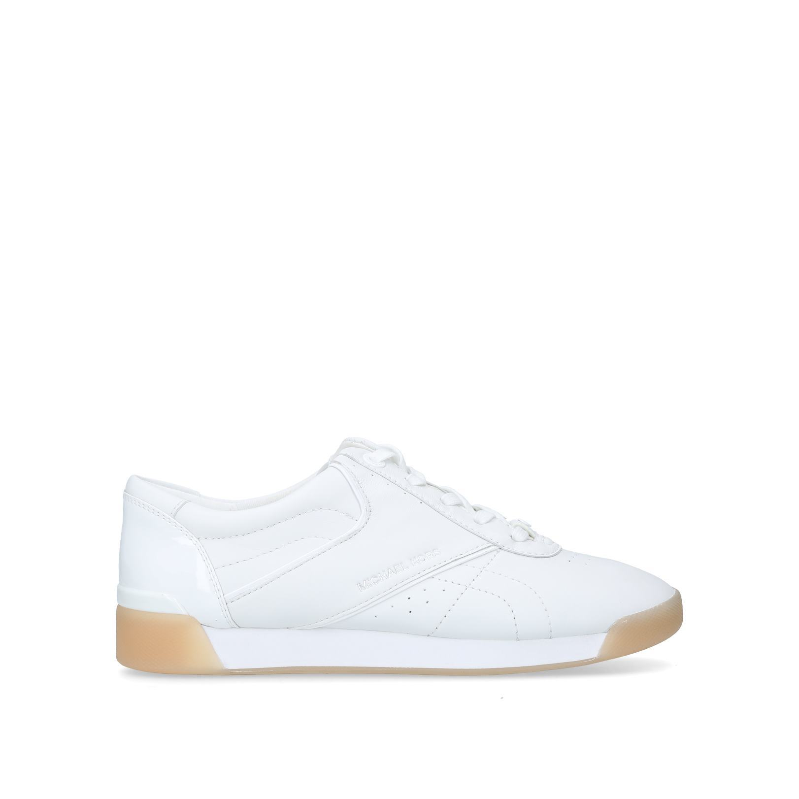 39f51ebeb0 ADDIE LACE UP Addie Lace Up No Heel Sneakers Michael Michael Kors White by  MICHAEL MICHAEL KORS