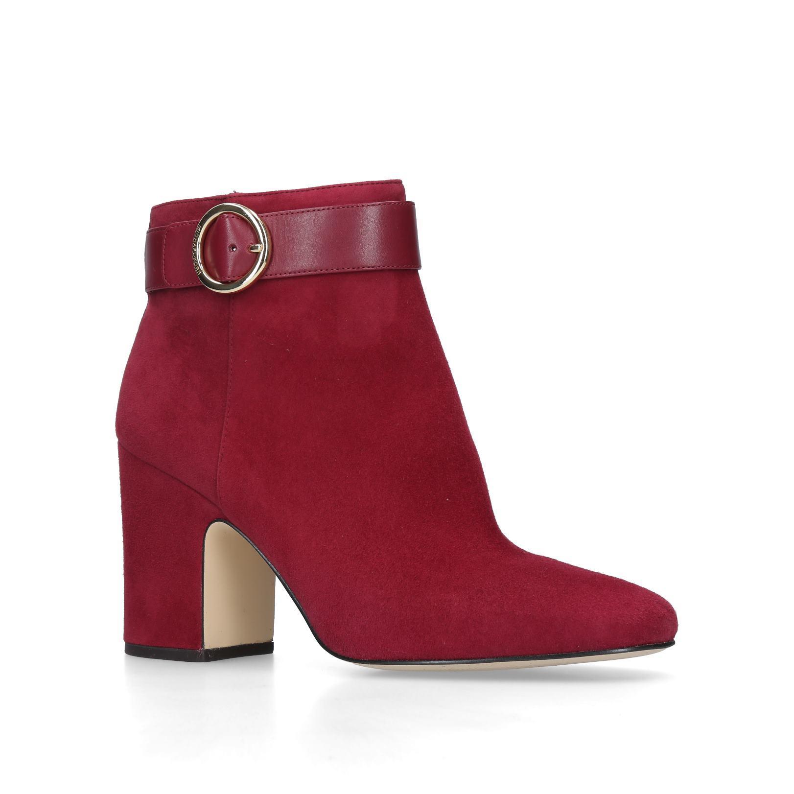 5173c7bf84d5c ALANA BOOTIE Alana Bootie Mmkors Red Dark Heel