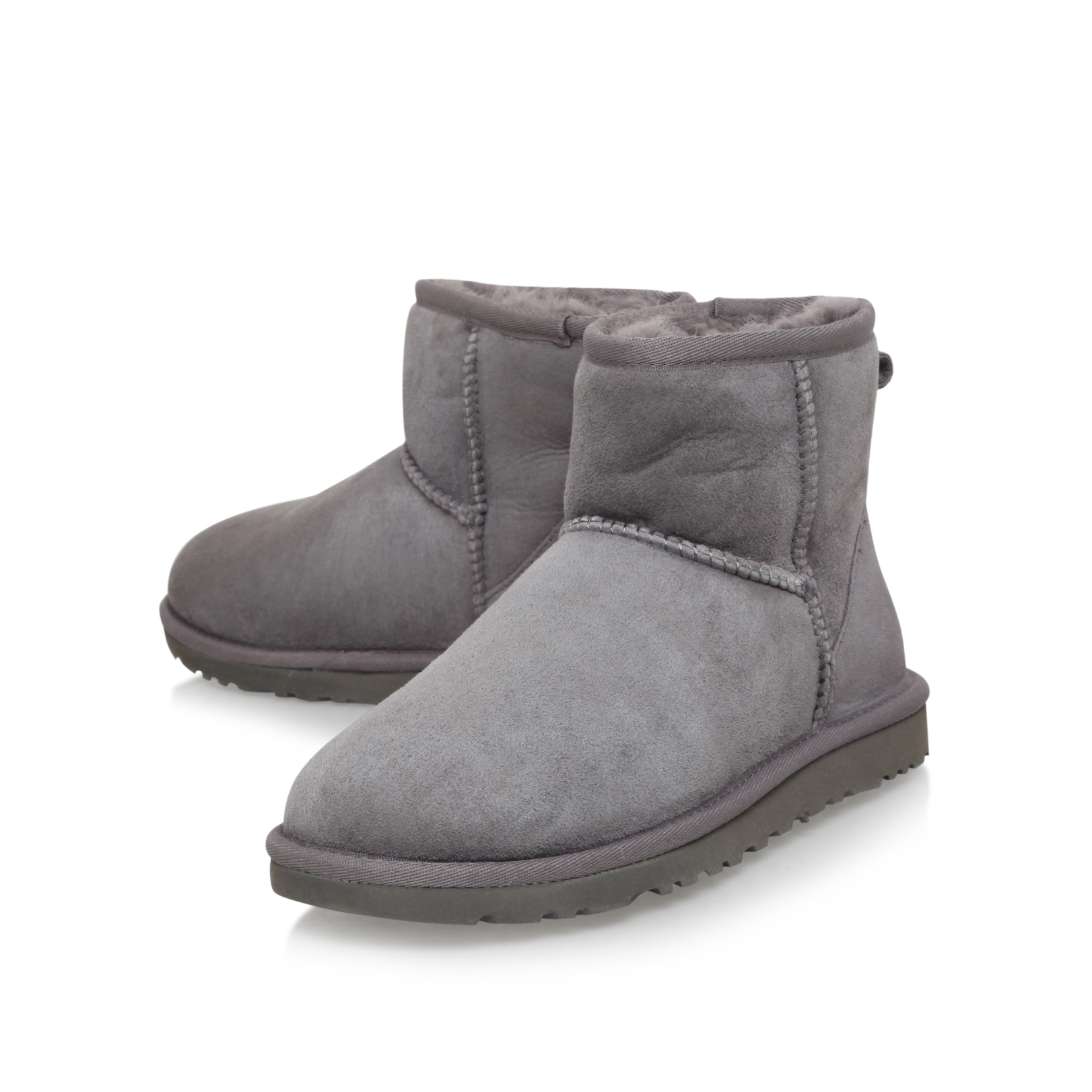 grey uggs mini