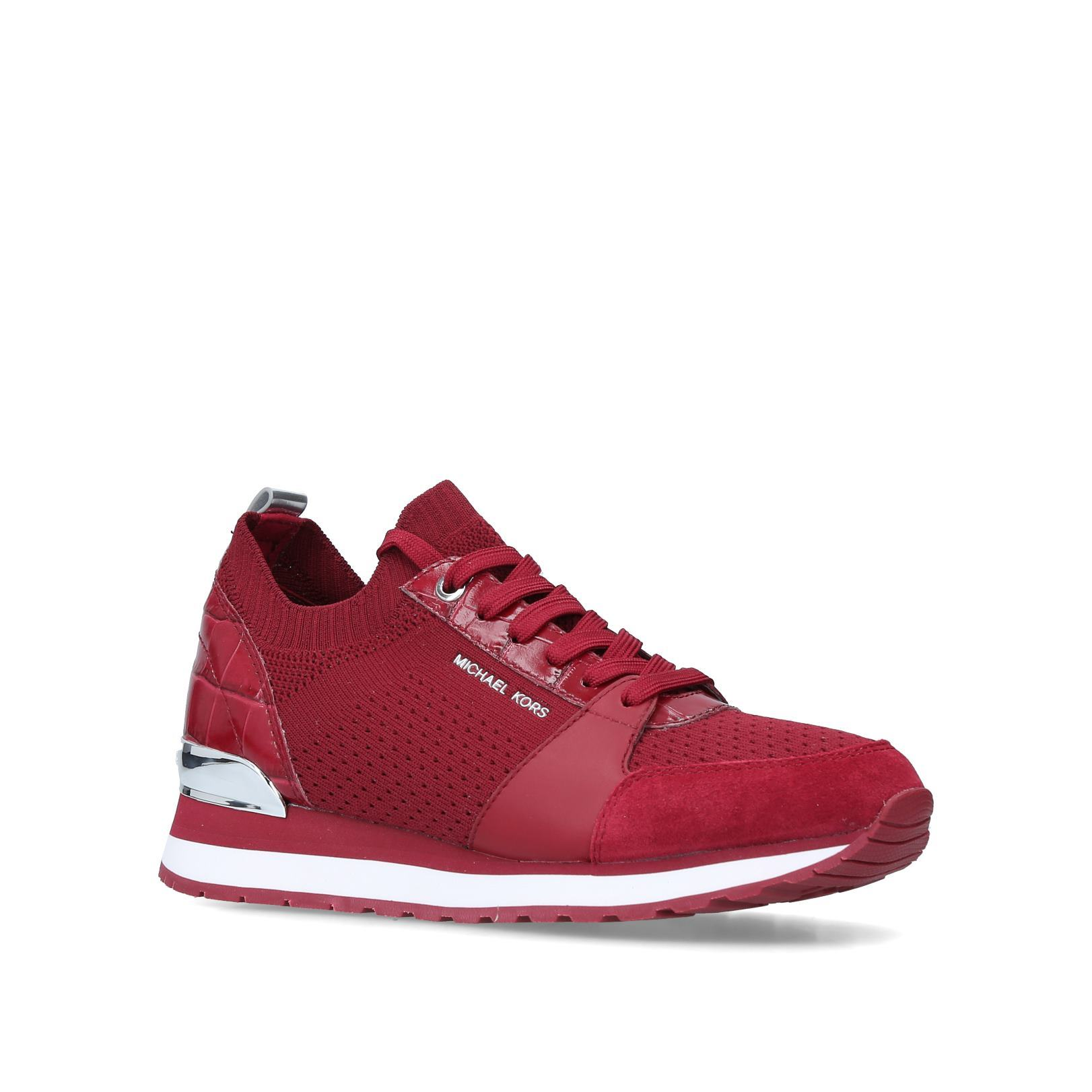 264e72ddfdc1 BILLIE KNIT TRAINER Billie Knit Trainer No Heel Sneakers Michael Michael  Kors Wine by MICHAEL MICHAEL KORS