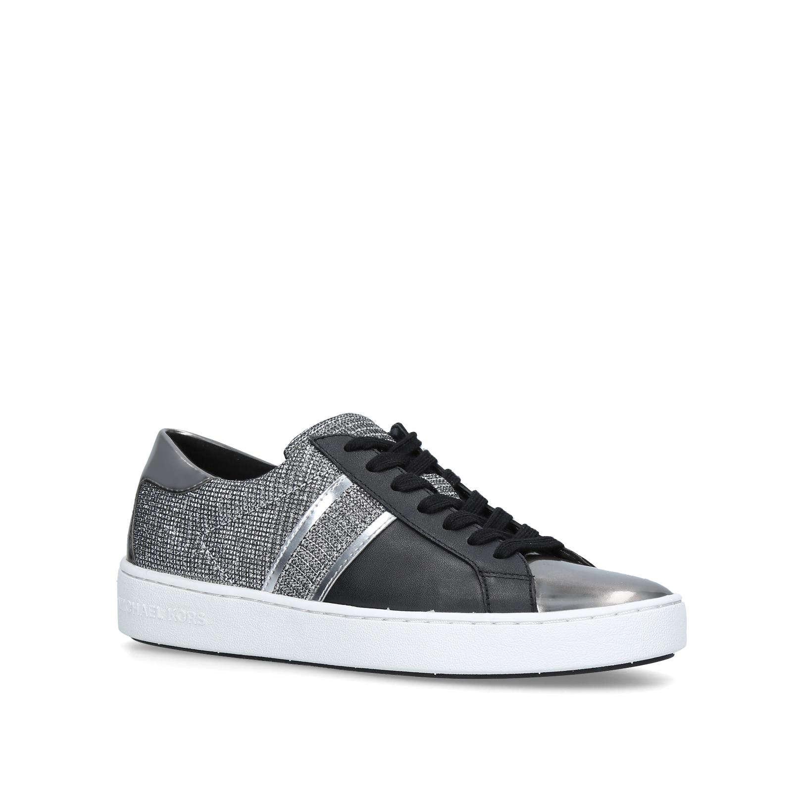 2251c1af139 KEATON STRIPE SNEAKER Keaton Stripe Sneaker No Heel Sneakers Michael  Michael Kors Blk/Other by MICHAEL MICHAEL KORS