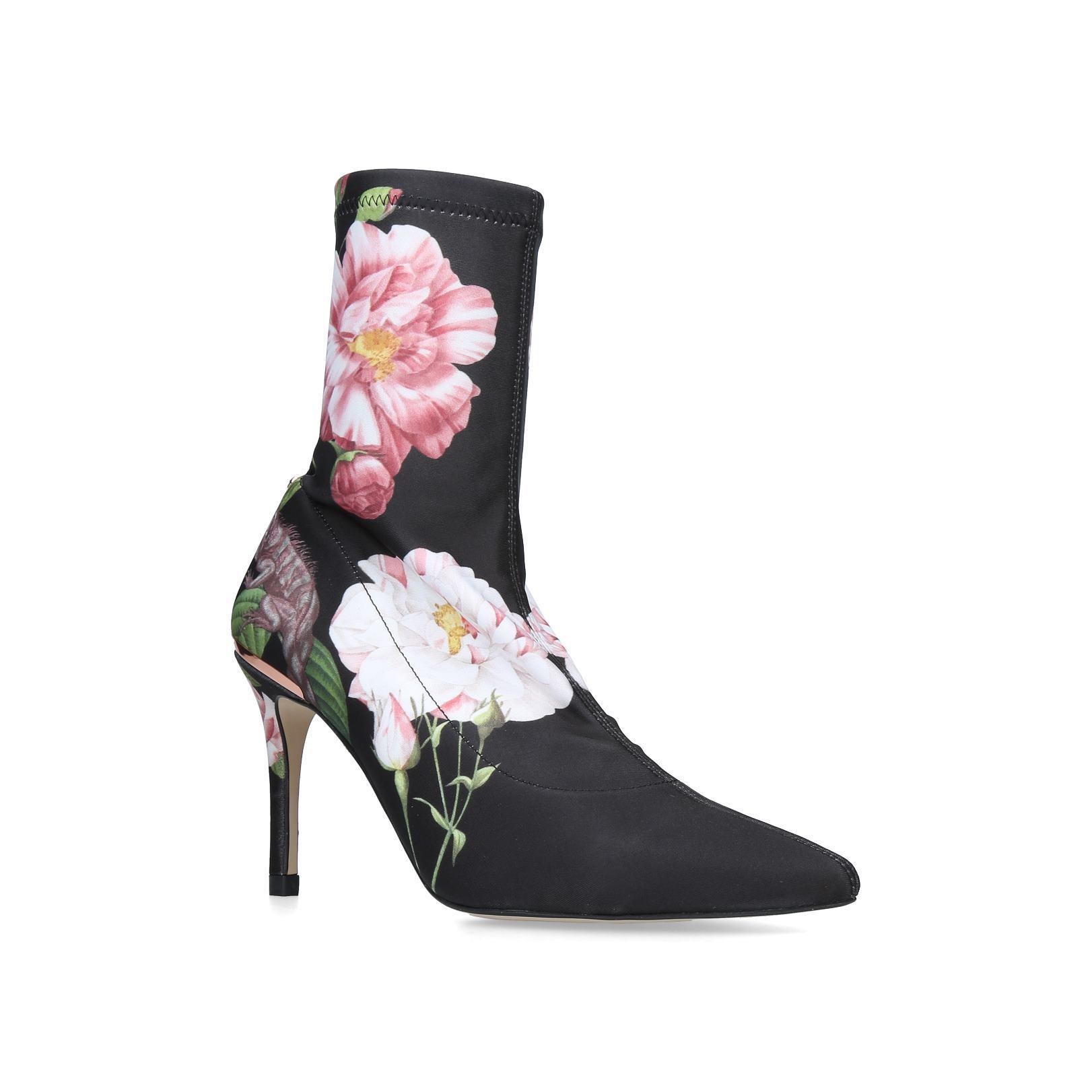 0f93517ce ELIZABETH elizabeth ted baker black floral sock boots by TED BAKER