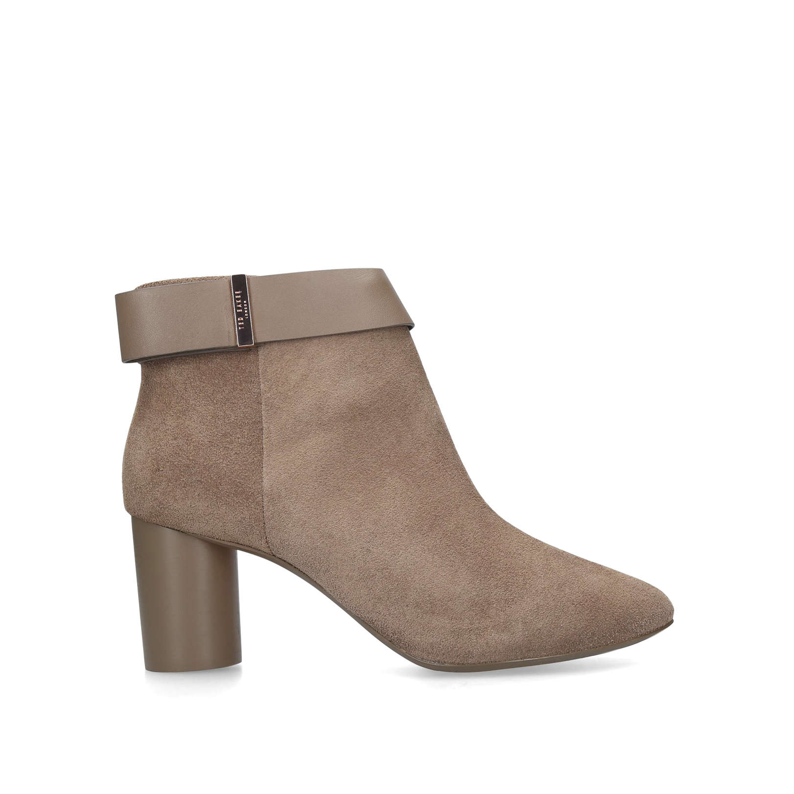 f44ef3bce062 MHARIA MHARIA TED BAKER TAUPE ANKLE HEELED BOOTS shoe boots by TED BAKER