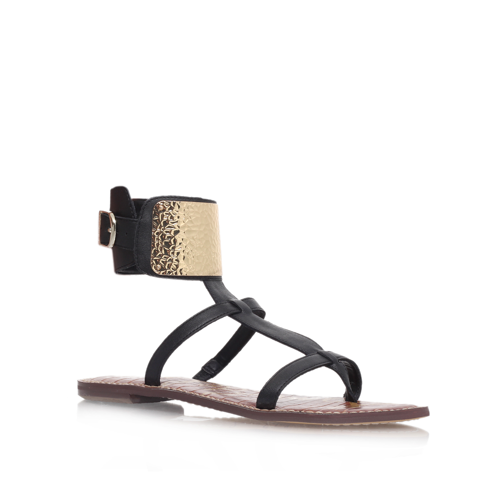 c434565c2d20 GENETTE Sam-Edel Genette Black Leather Sandals by SAM EDELMAN