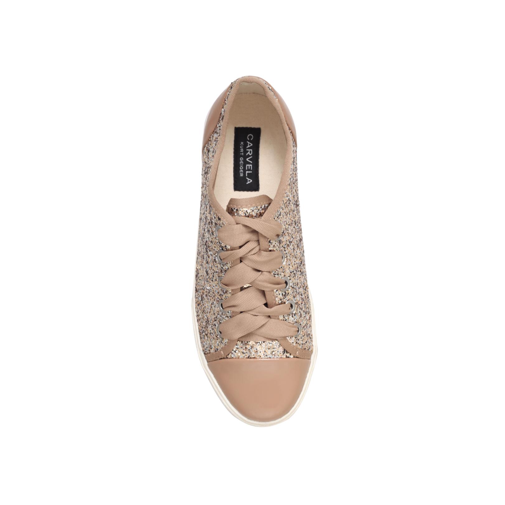 17237a9b6f JASPER Carvela Jasper Gold Flat Sneakers by CARVELA
