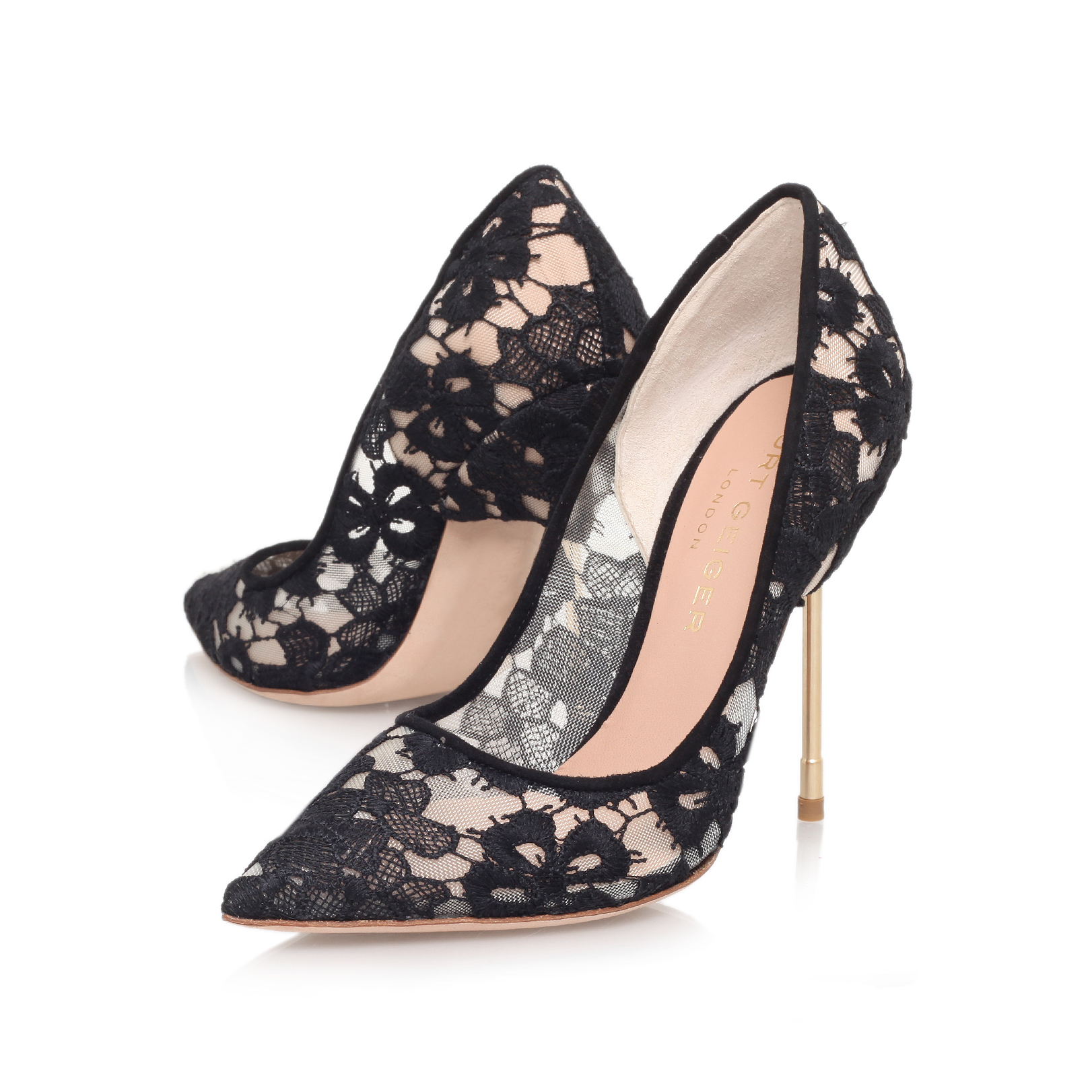 Kurt Geiger Britton - black high heel court shoes Quality Free Shipping Free Shipping Inexpensive 3MiuKiP