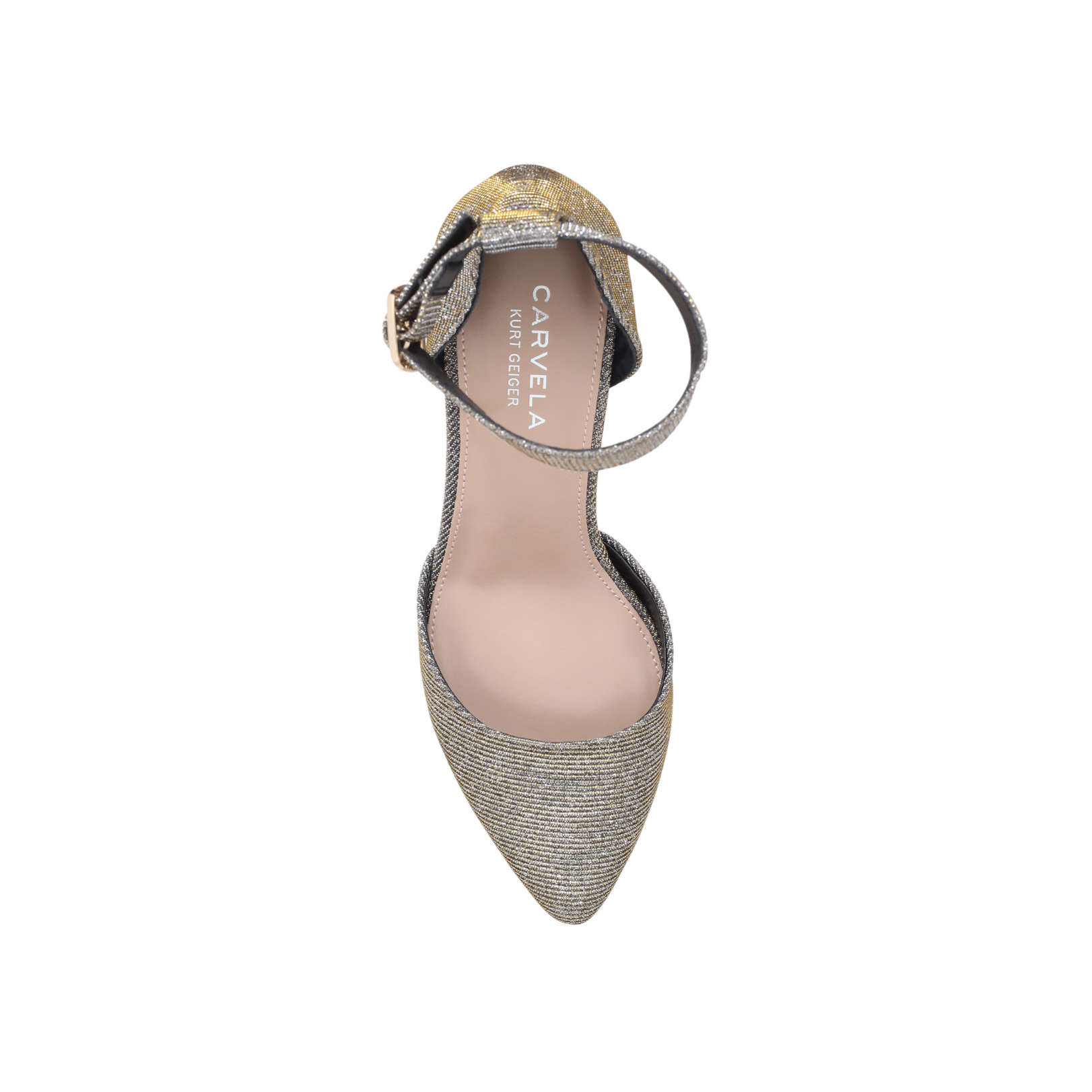 6217ad23126 KANDICE Carvela Kandice Bronze Mid Heel Court Shoes by CARVELA