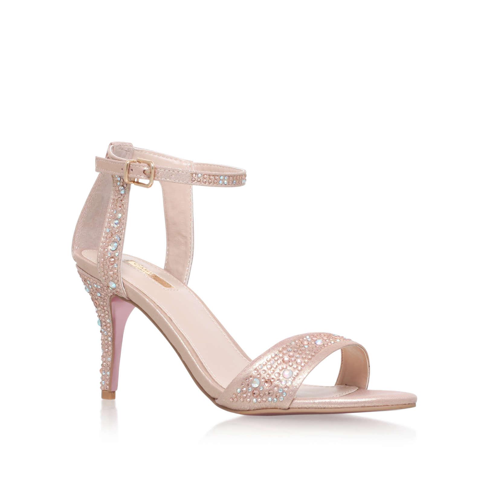 KOLLUDE Carvela Kollude Pink Mid Heel Sandals by CARVELA KURT GEIGER
