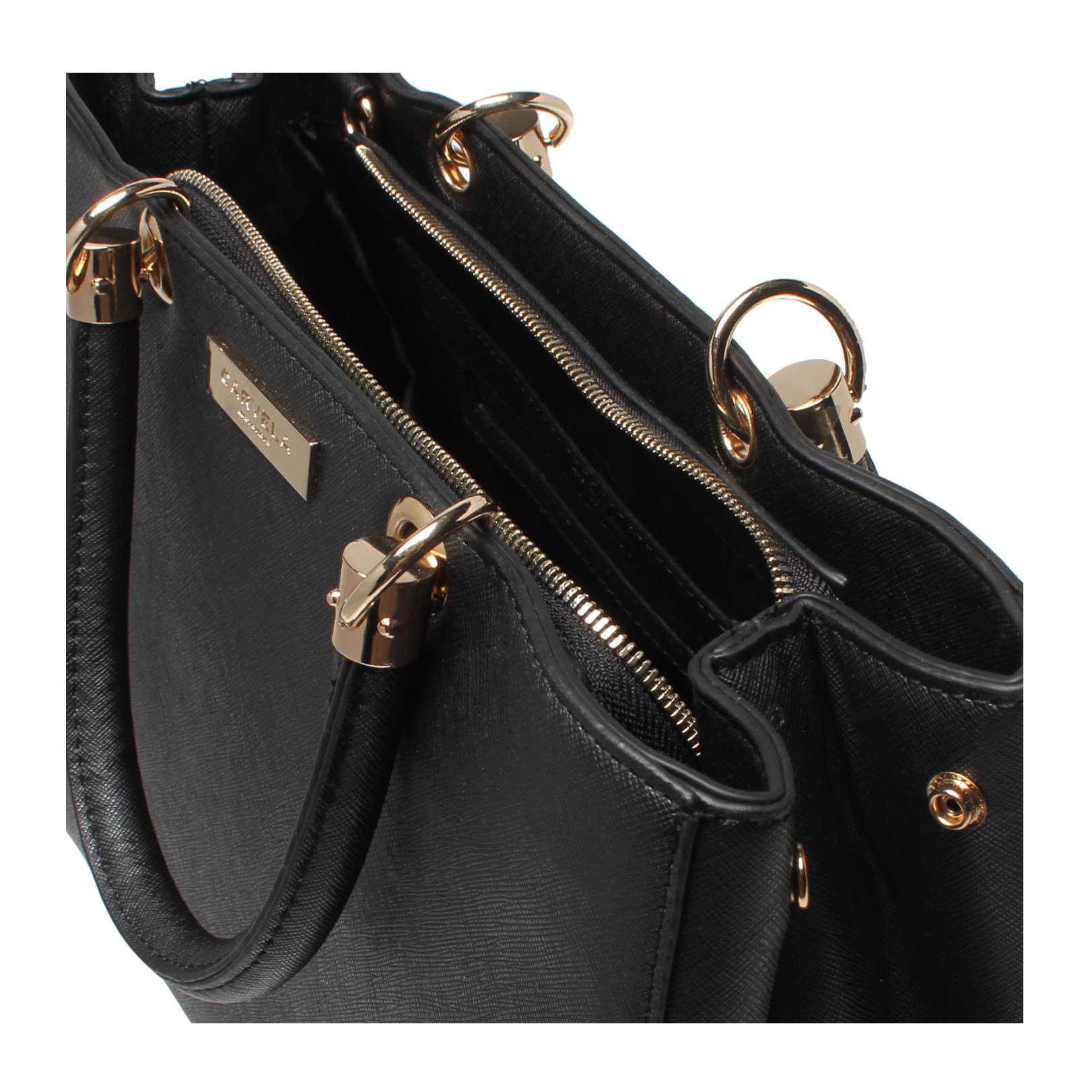 f02af17b137c DARLA STRUCTURED TOTE Carvela Darla Structured Tote Bag Black by CARVELA