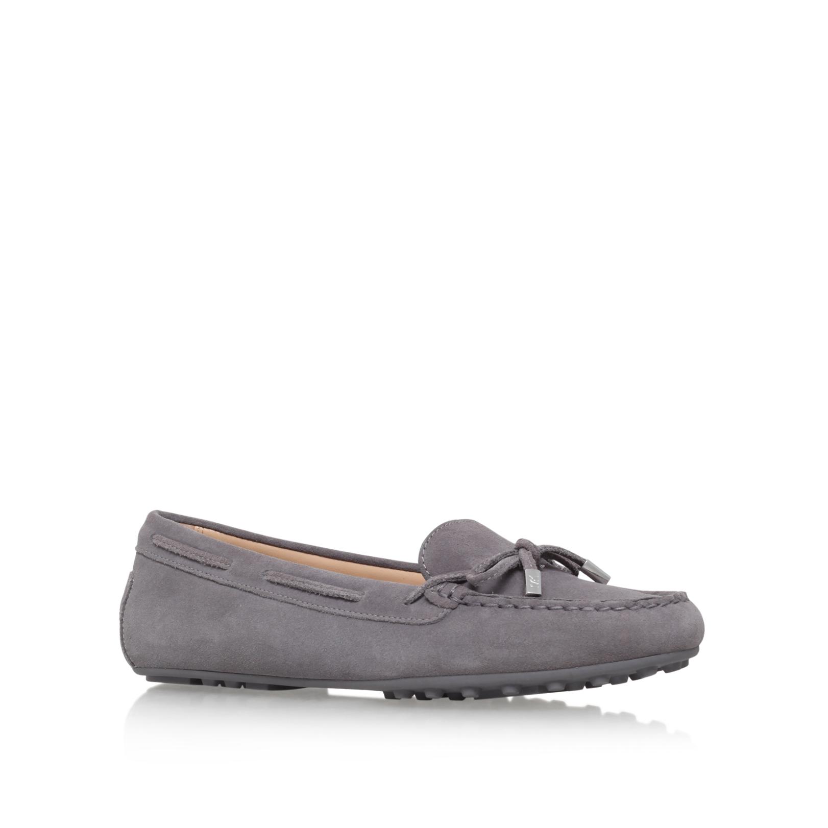 59cbfbd1b70d1 DAISY MOC Michael Michael Kors Daisy Light Grey Suede Flat Loafers ...