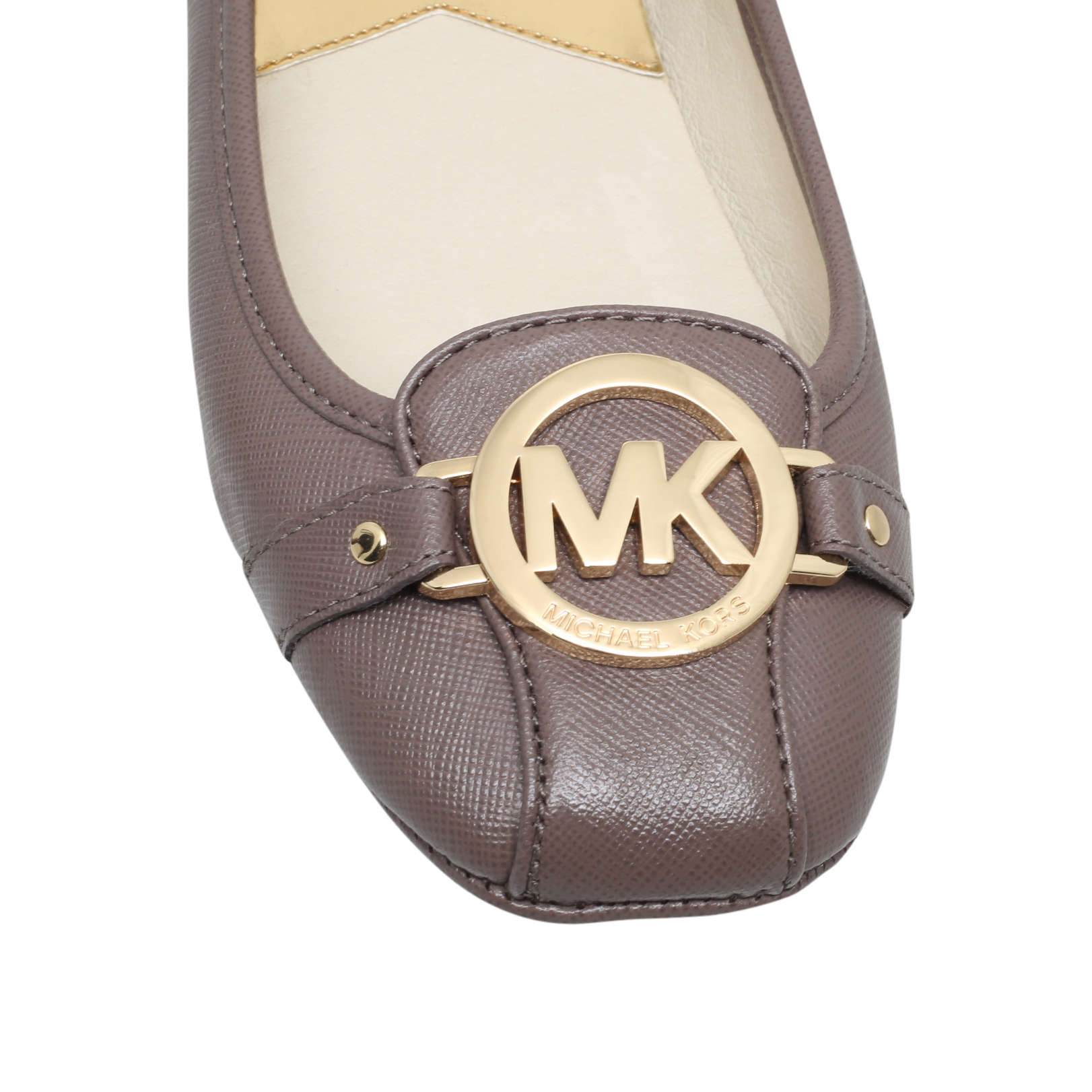 michael michael kors fulton moc taupe leather flats by michael michael. Black Bedroom Furniture Sets. Home Design Ideas