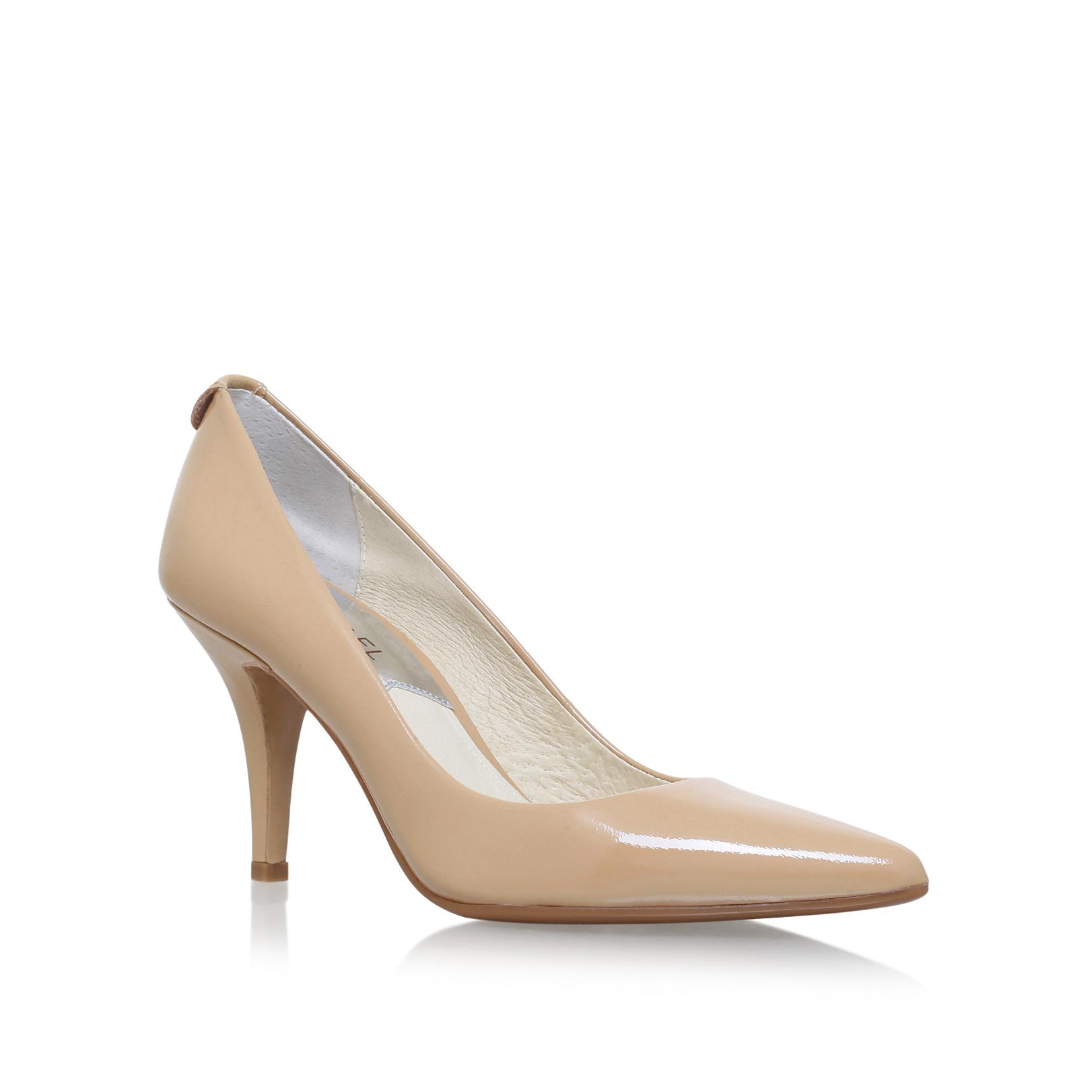 c4f607bec491 MK FLEX MID PUMP Michael Michael Kors Mk Flex Mid Pump Nude Patent Mid Heel  Court Shoes by MICHAEL MICHAEL KORS
