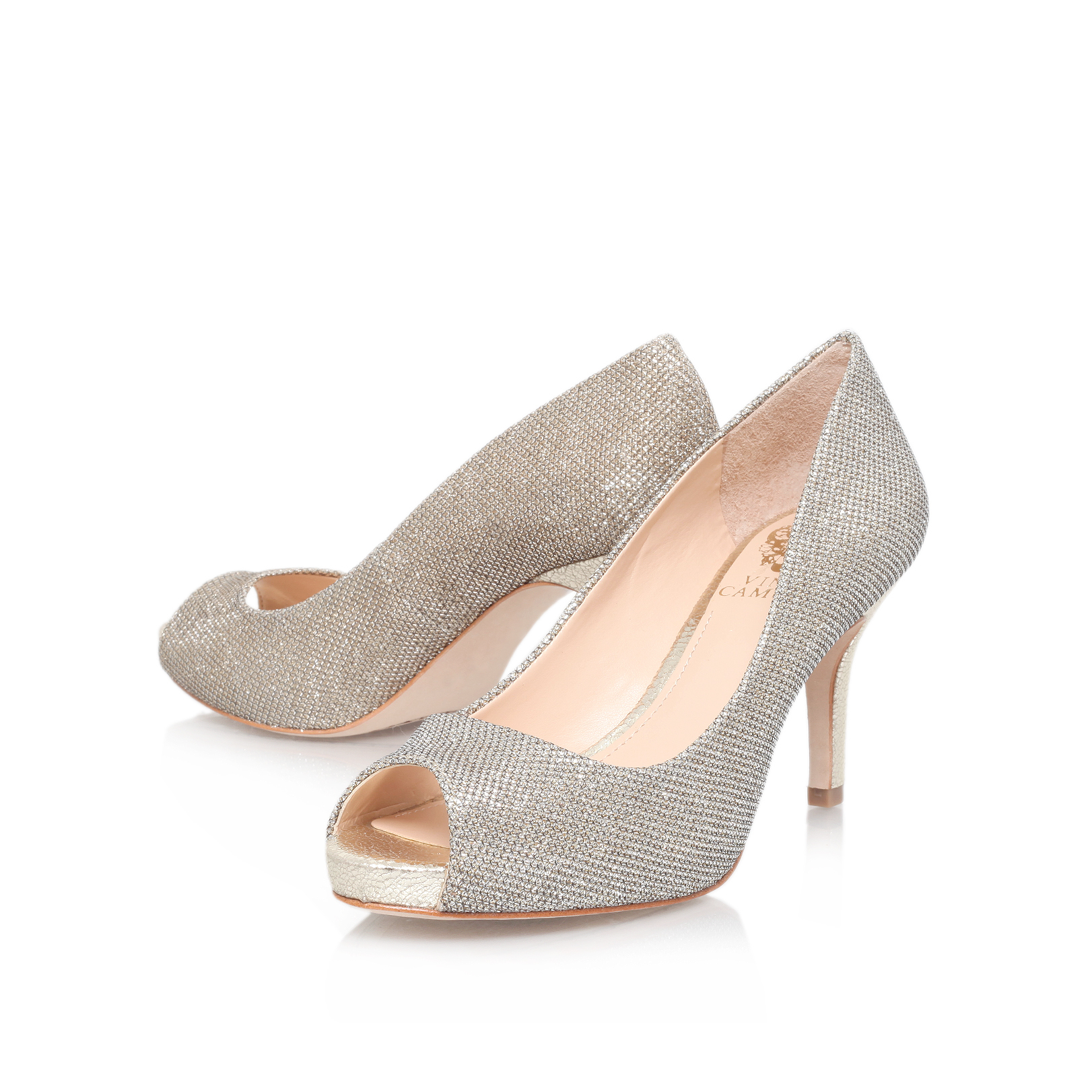 Vince Camuto Kiley1 Gold High Heel Court Shoes By Vince