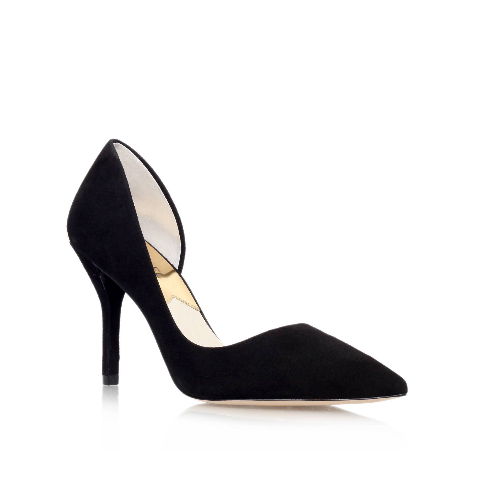 9cc4a66401f5 JULIETA PUMP Michael Michael Kors Julieta Pump Black Suede High Heel Court  Shoes by MICHAEL MICHAEL KORS