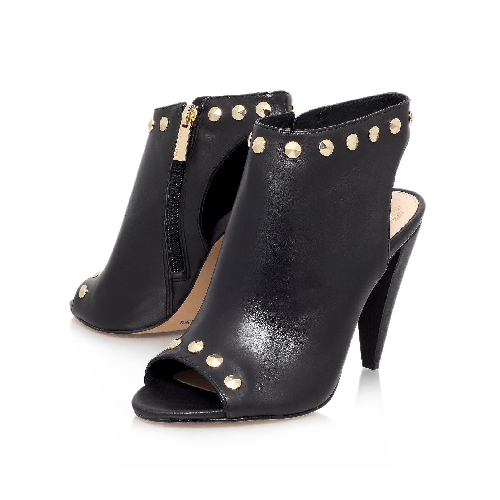 3fccd4e00e172 Vince Camuto | ABBIA Black Mid Heel Shoe Boots by VINCE CAMUTO