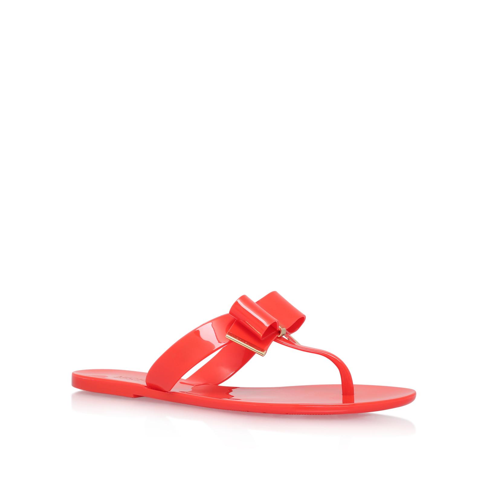 5df576437 KAYDEN THONG Michael Michael Kors Kayden Thong Orange Flat Sandals by MICHAEL  MICHAEL KORS