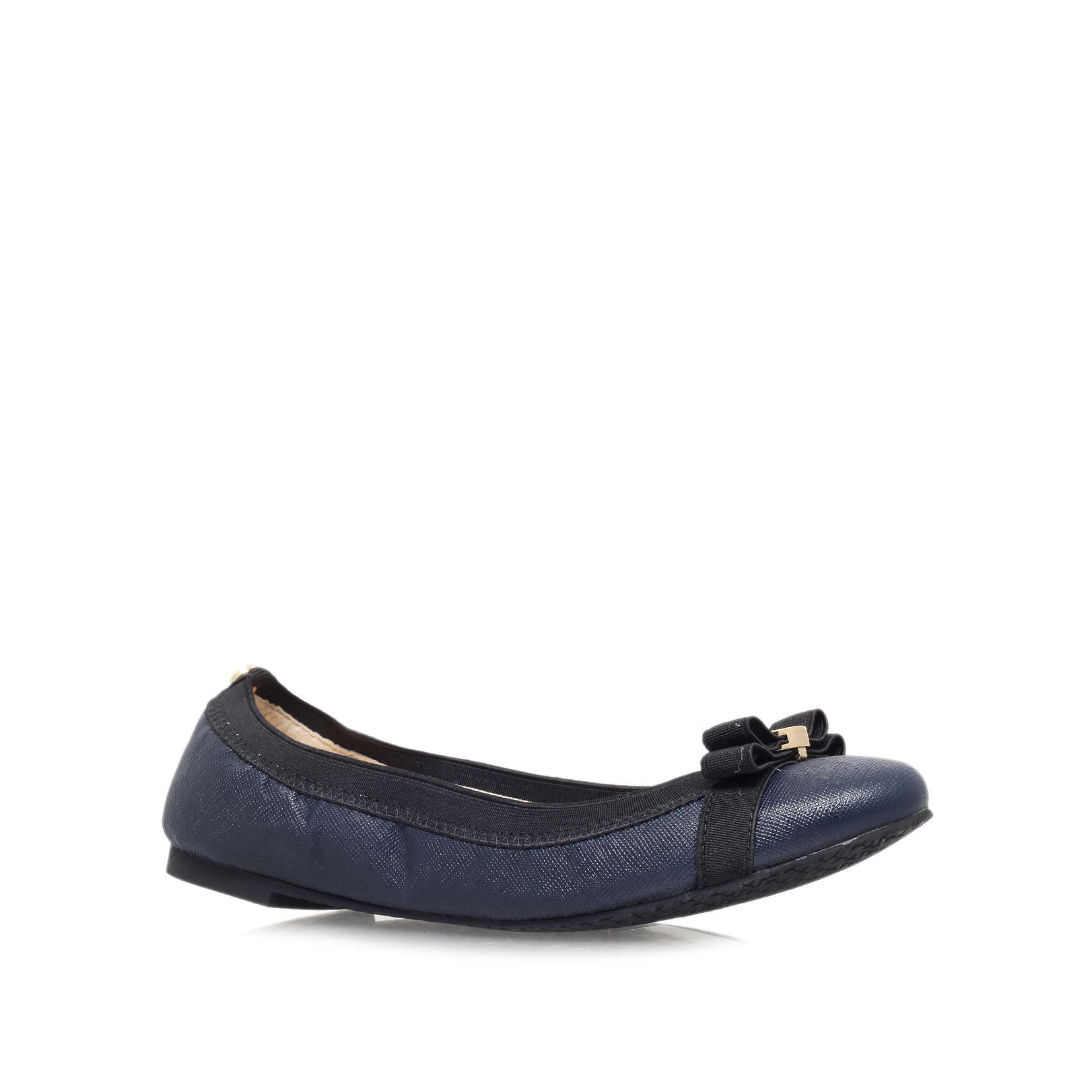 7489dd7ef744 DIXIE BALLET Michael Michael Kors Dixie Ballet Navy Leather Flats by MICHAEL  MICHAEL KORS