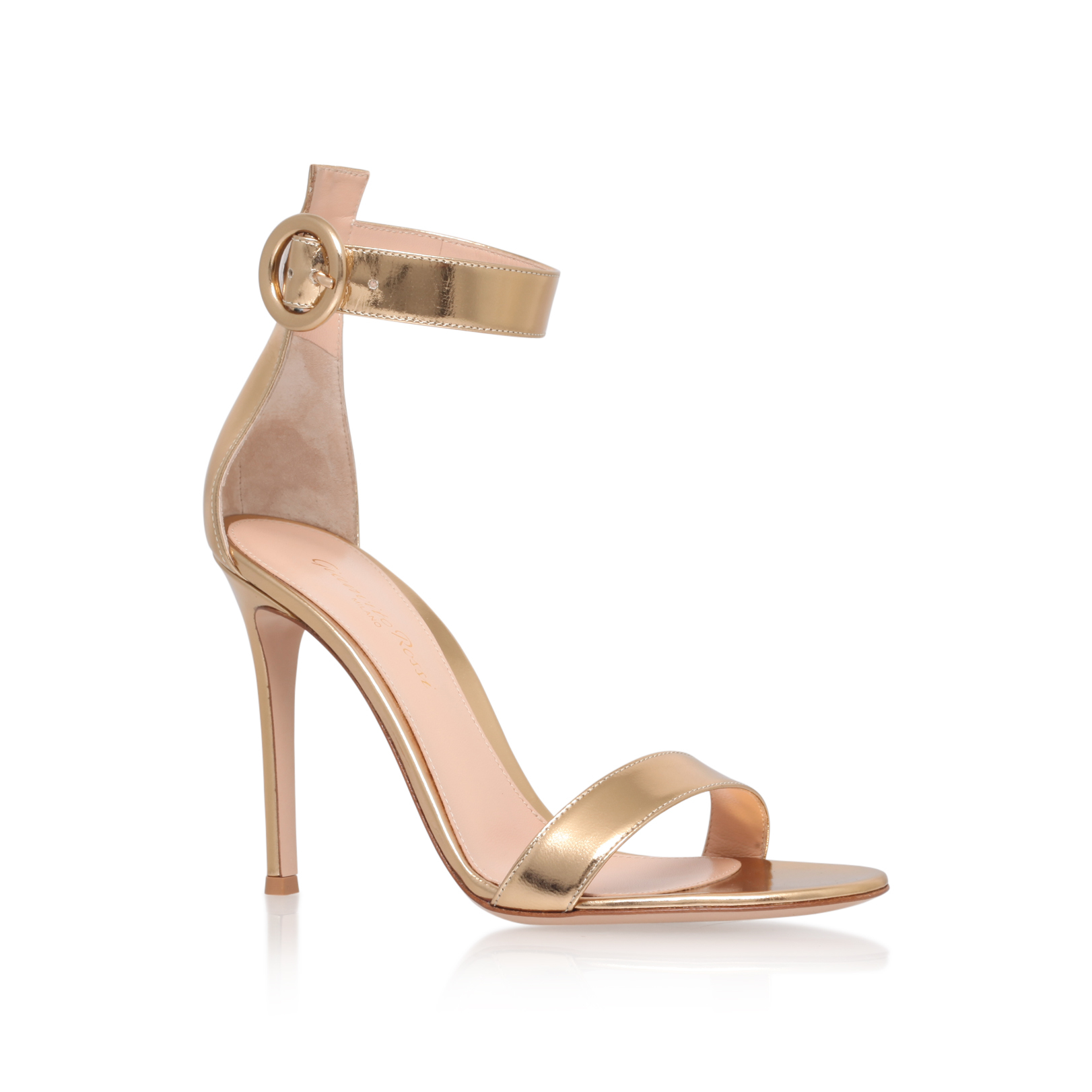 5b4c1751912b PORTOFINO 105 Gianvito Rossi Portofino 105 Gold Leather High Heel Sandals  by GIANVITO ROSSI