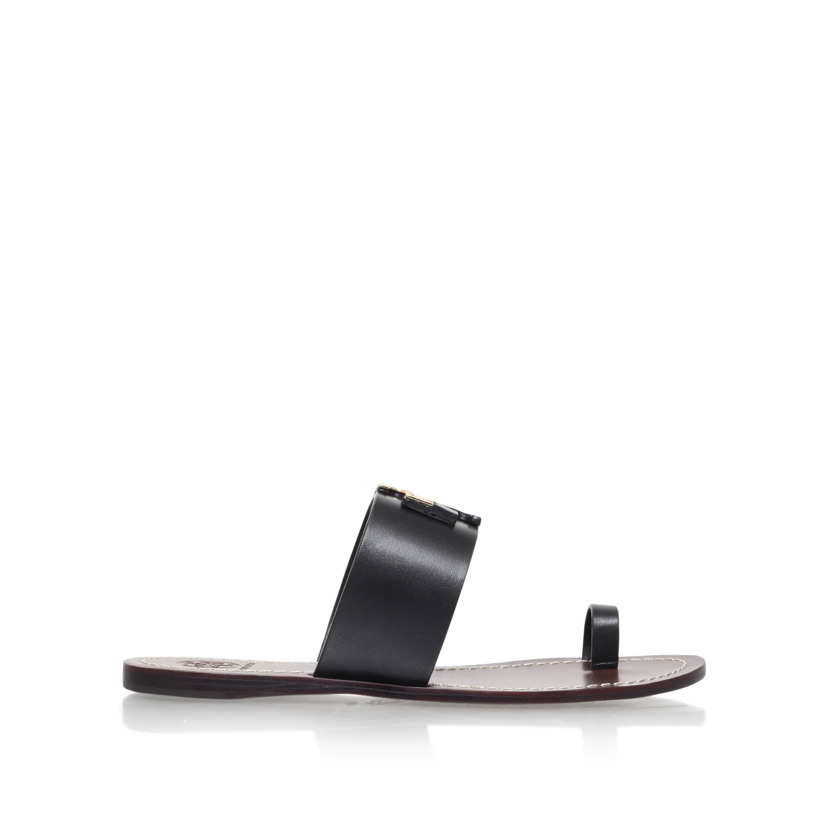 eabc09e5f LOWELL SLIDE  Tory Burch Lowell Slide Black Leather Sandal  by TORY BURCH