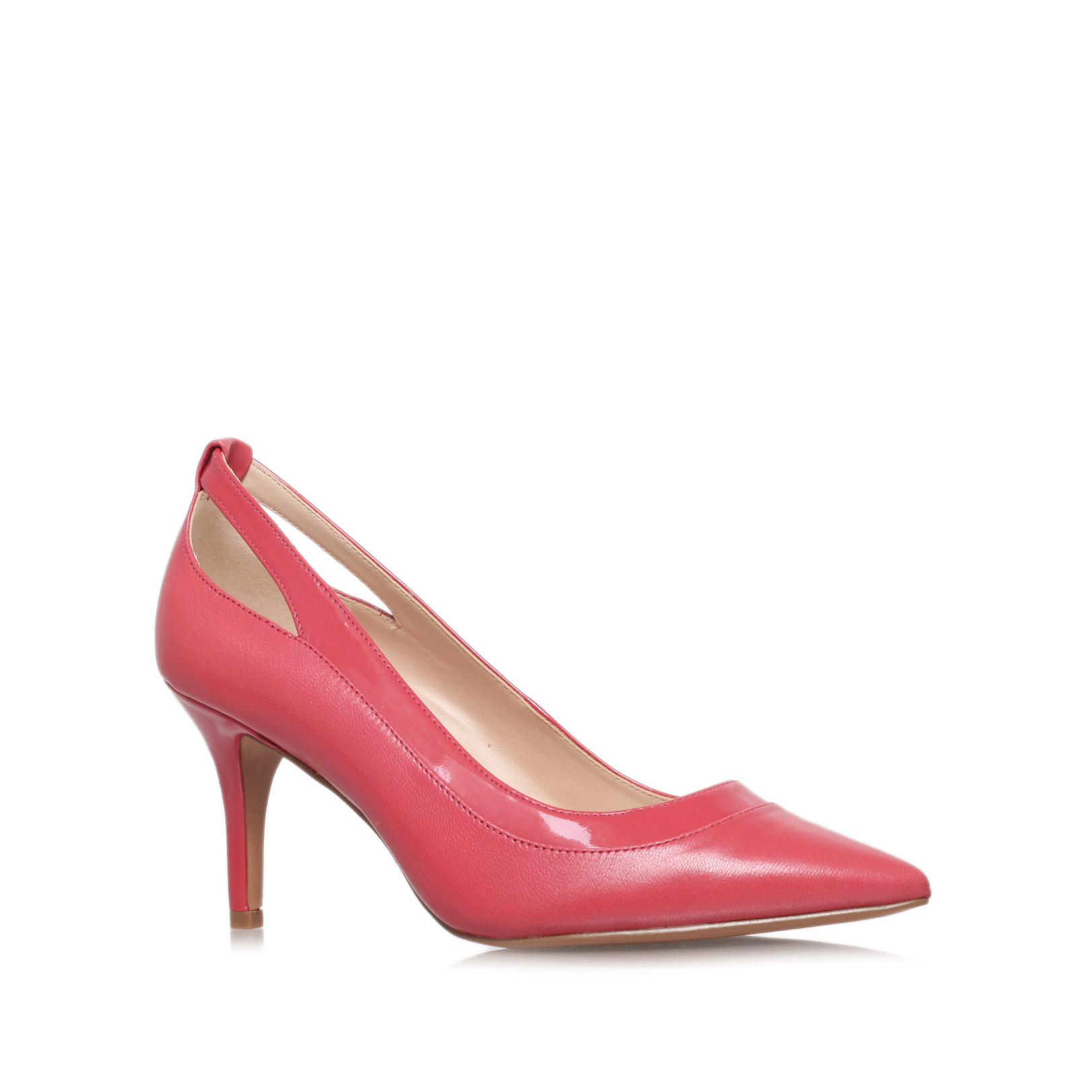 kano nine west kano salmon leather mid heel court shoes by