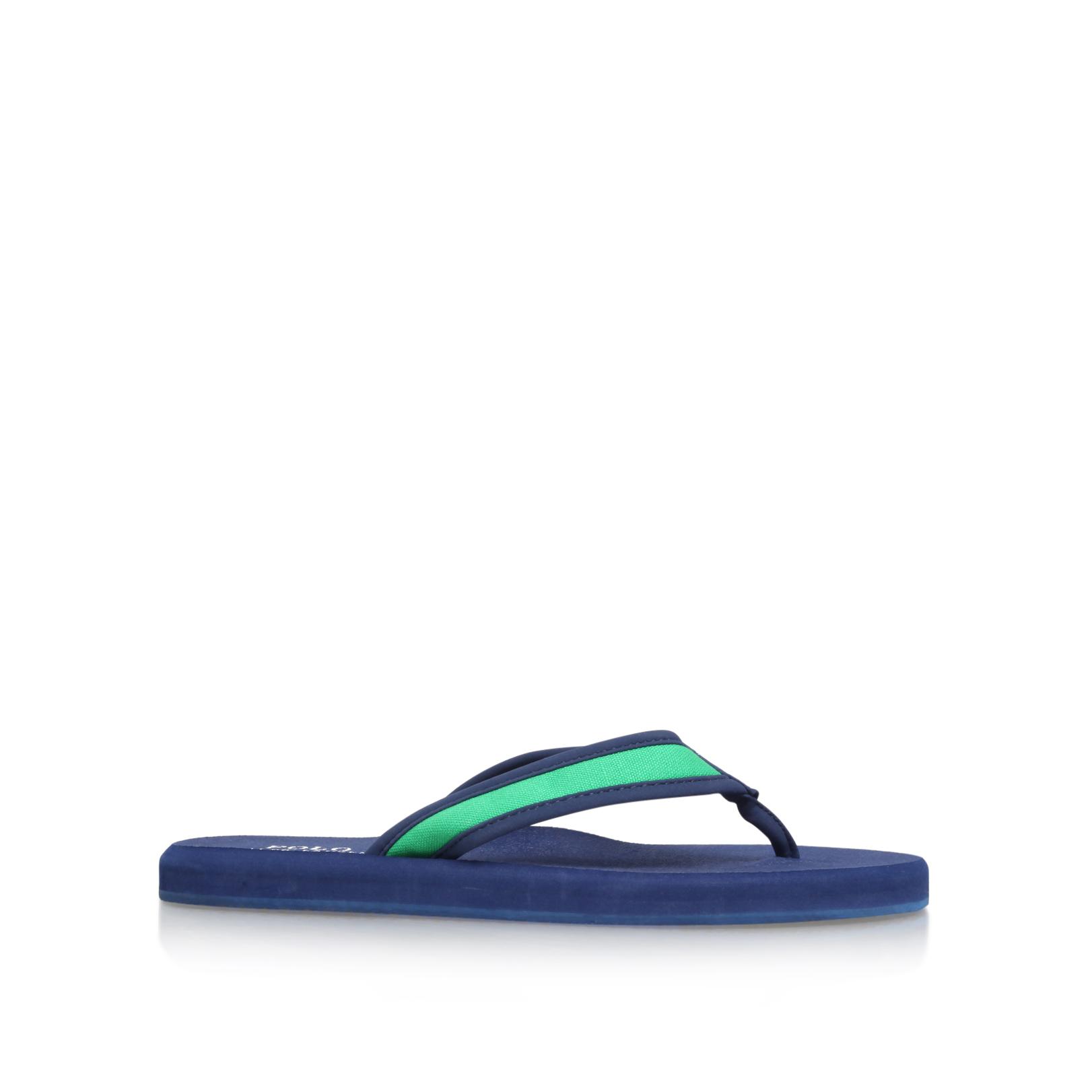0fde78d1fa4e7 ALMER II FLIP FLOP Polo Rl Almer Ii Flip Flop Blue Flat Sandals by POLO  RALPH LAUREN
