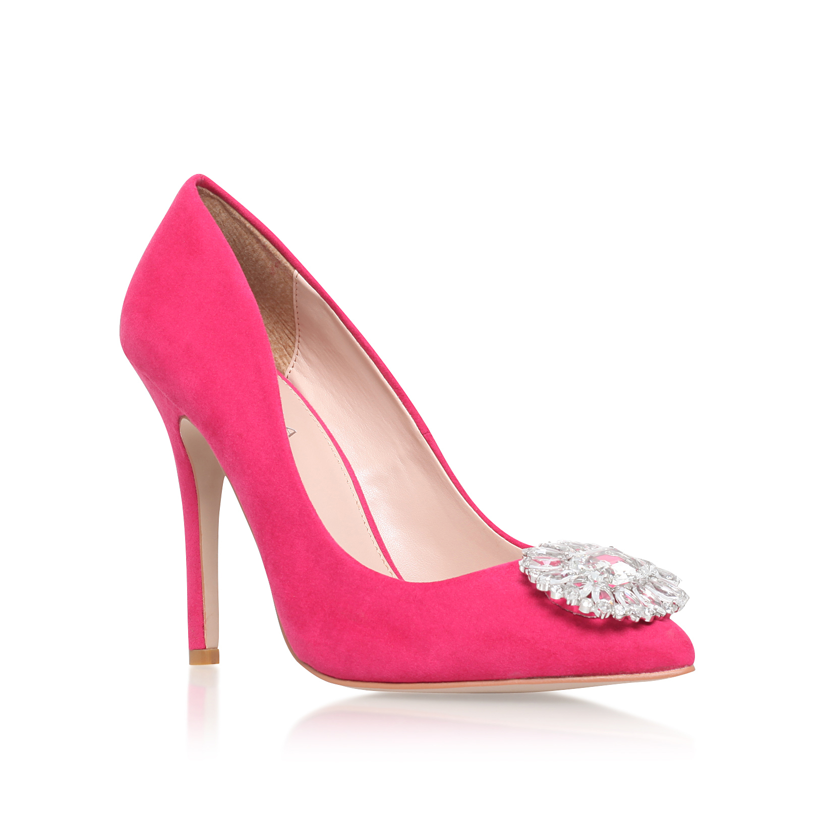 fuschia pink high heel shoes is heel