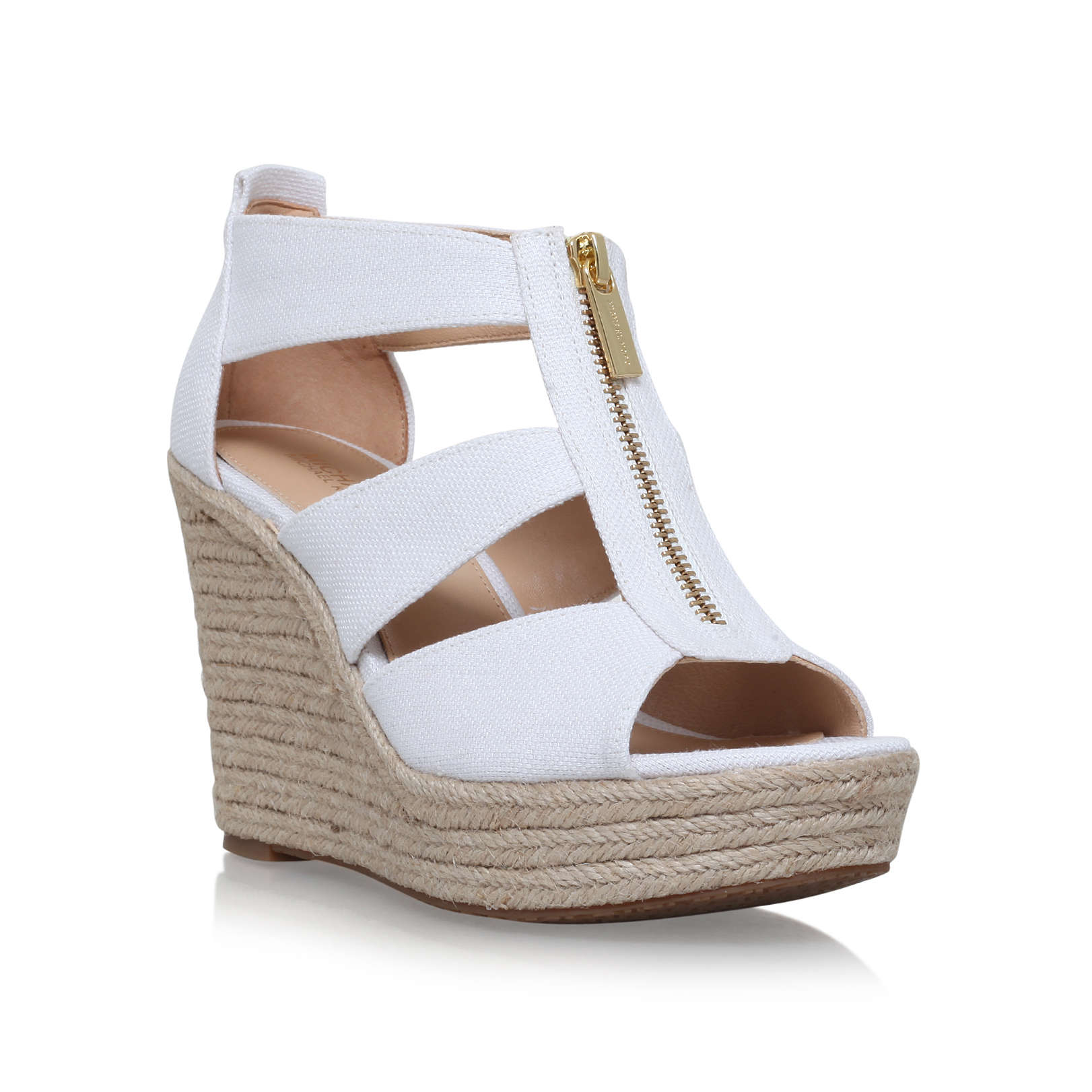 c79a45064b7b DAMITA WEDGE Michael Michael Kors Damita White High Heel Sandals by ...