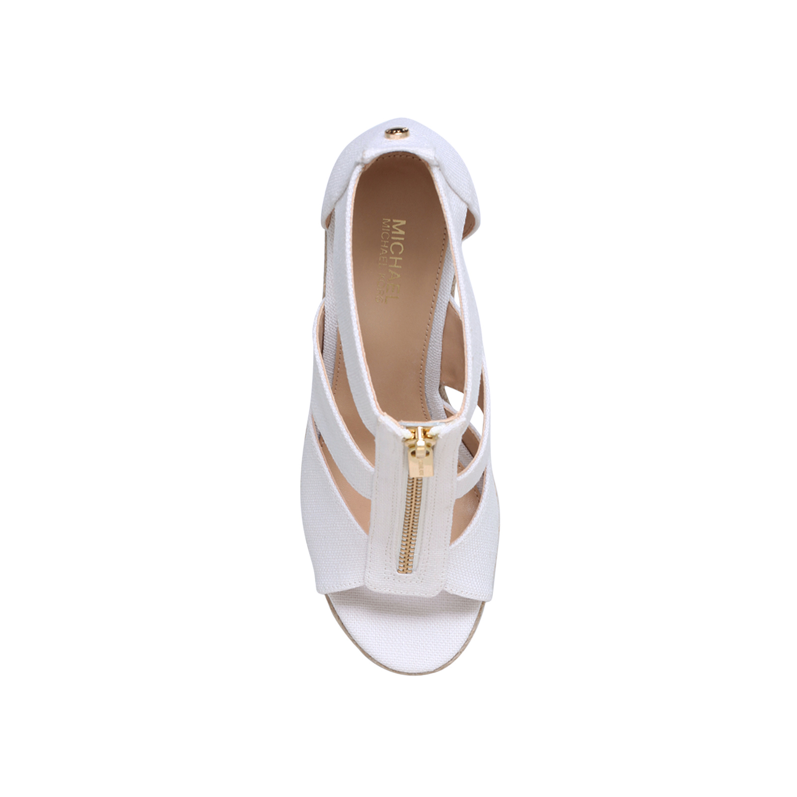 8ad4c29bd6b3 DAMITA WEDGE Michael Michael Kors Damita White High Heel Sandals by MICHAEL  MICHAEL KORS