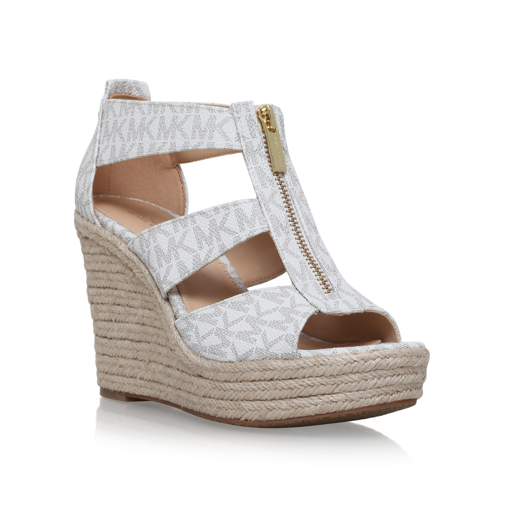 ad32419ab4b4 DAMITA WEDGE Michael Michael Kors Damita Winter White High Heel ...