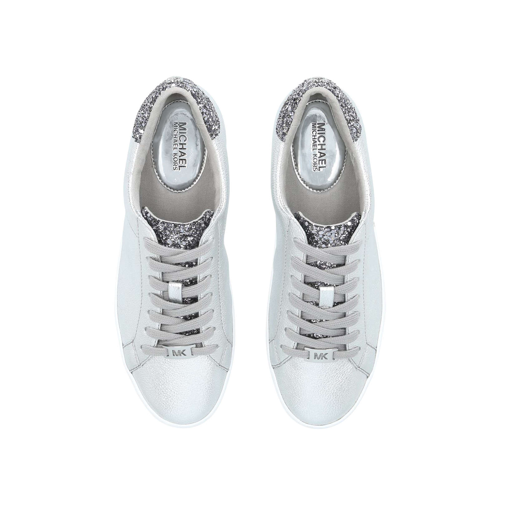e1399ad97803 IRVING LACE UP Michael Michael Kors Irving Lace Up Silver Glitter ...