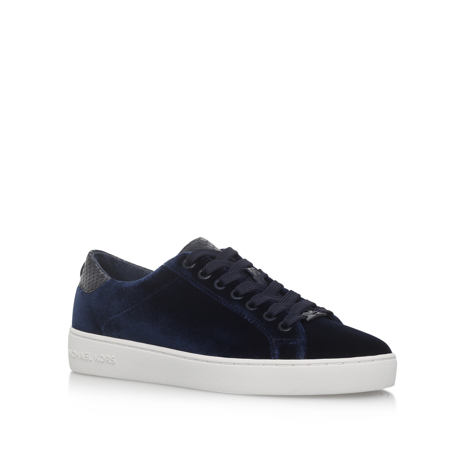 facd44e2437 IRVING LACE UP Michael Michael Kors Irving Lace Up Navy Velvet Sneakers by MICHAEL  MICHAEL KORS