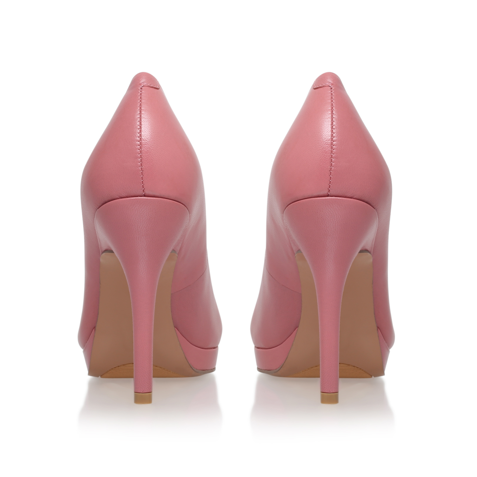 keemah nine west keemah pale pink leather high heel court