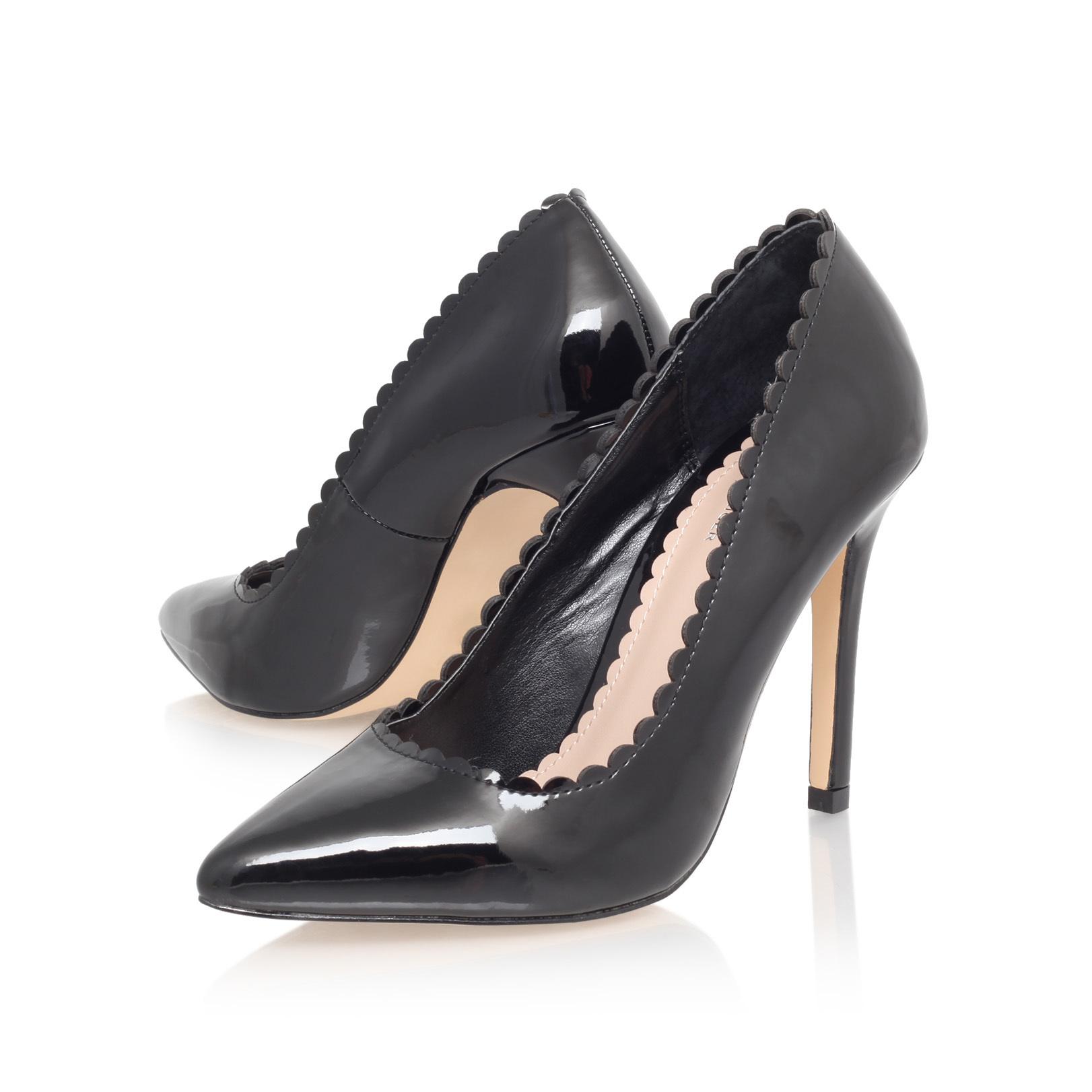 ea308a4d39 KASSANDRA Carvela Kassandra Black Patent Mid Heel Court Shoes by CARVELA