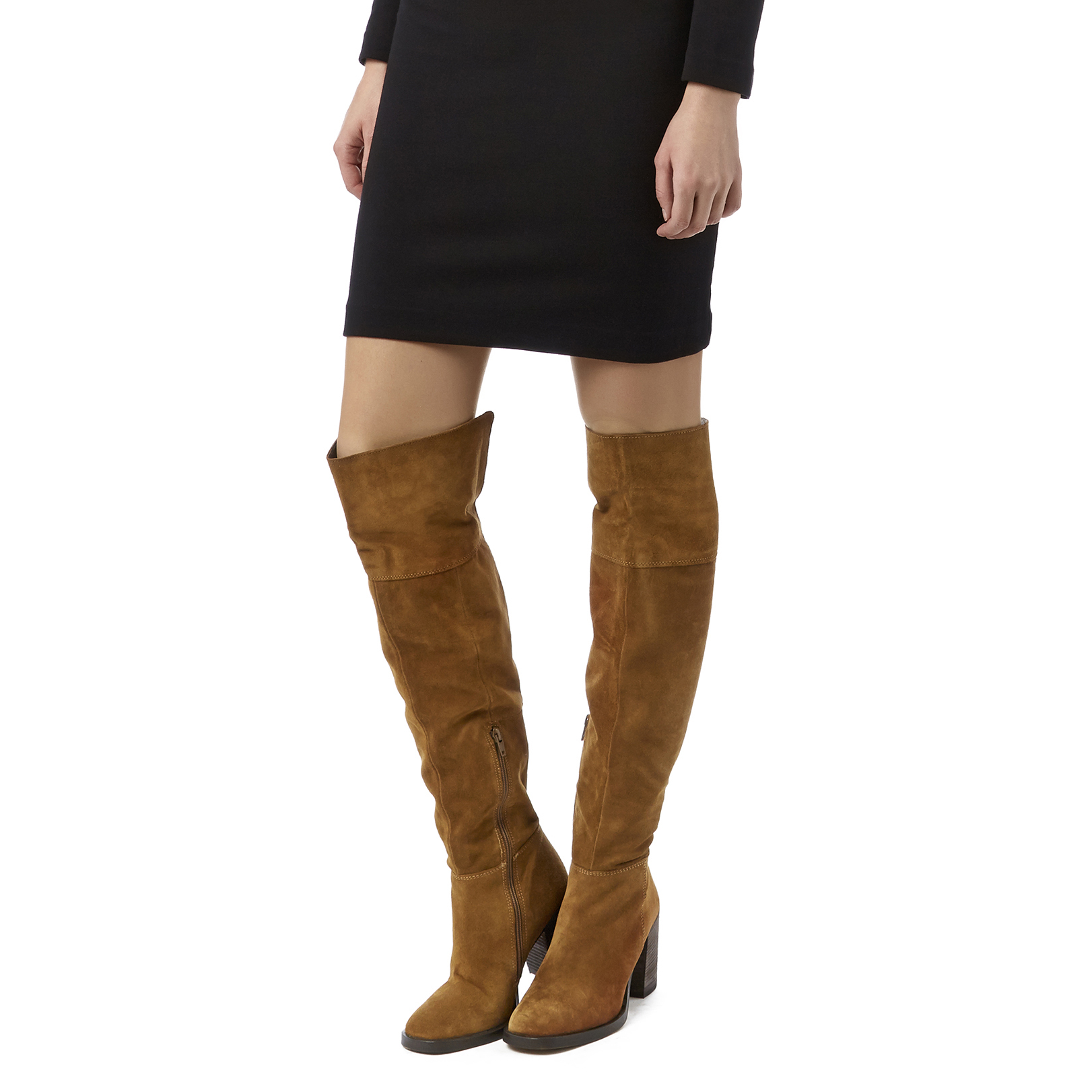 4cfd8f3f5 WISH Carvela Wish Tan Suede High Leg Boots Heel Over The Knee Boot ...