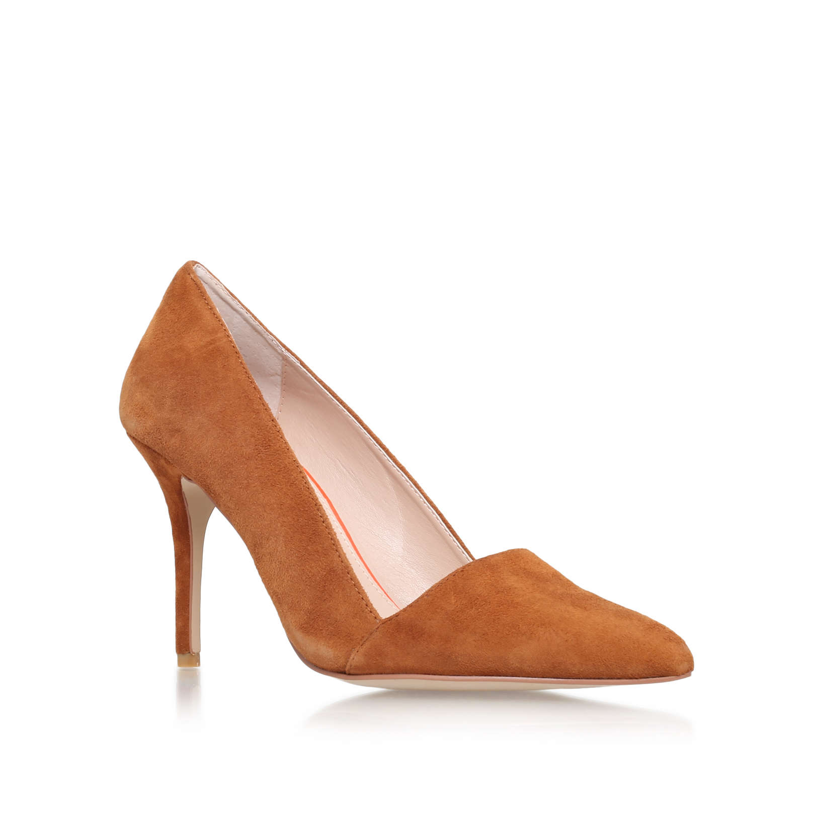 Tan Court Shoes Low Heel