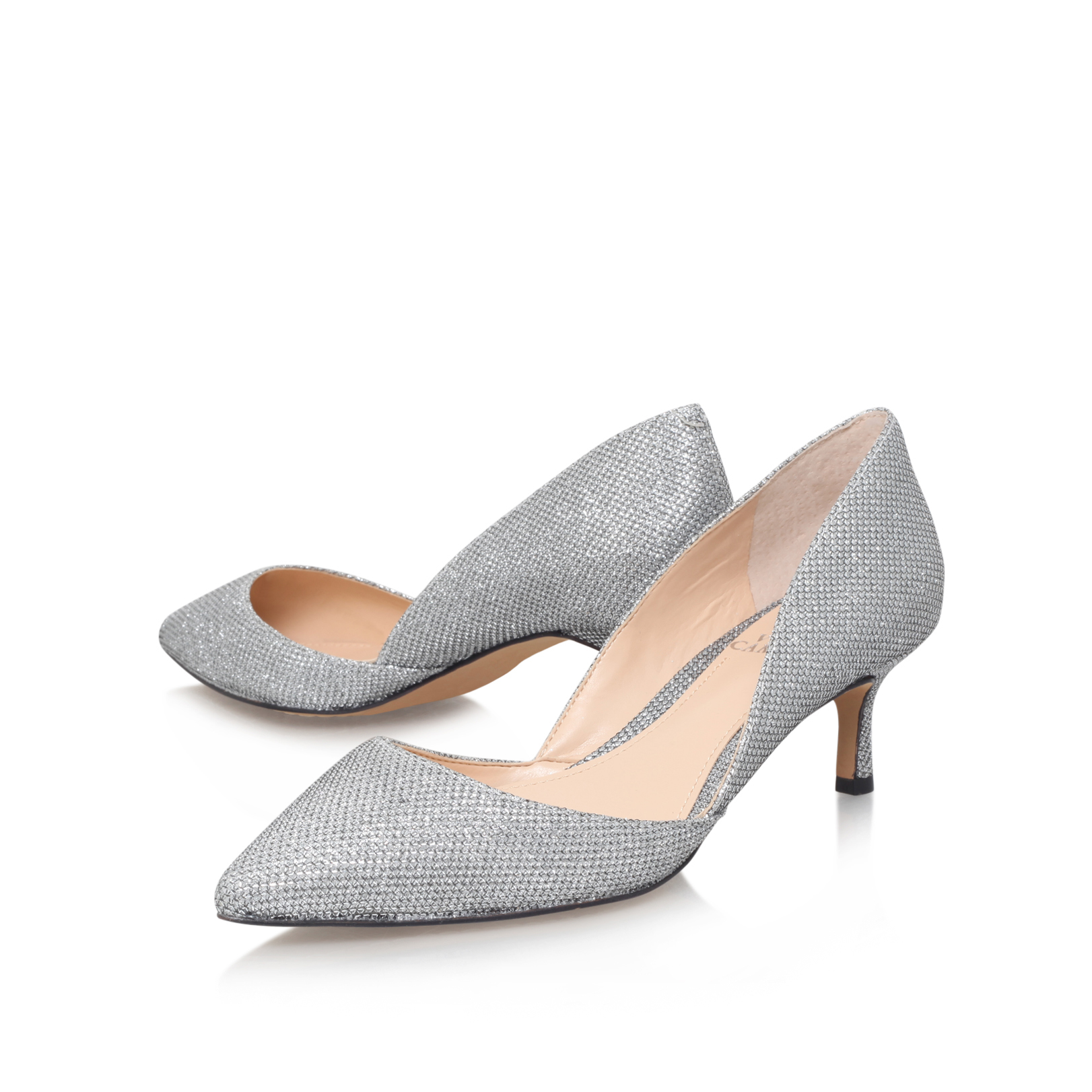 Vince Camuto | PREMELL Silver Mid Heel Court Shoes by VINCE CAMUTO