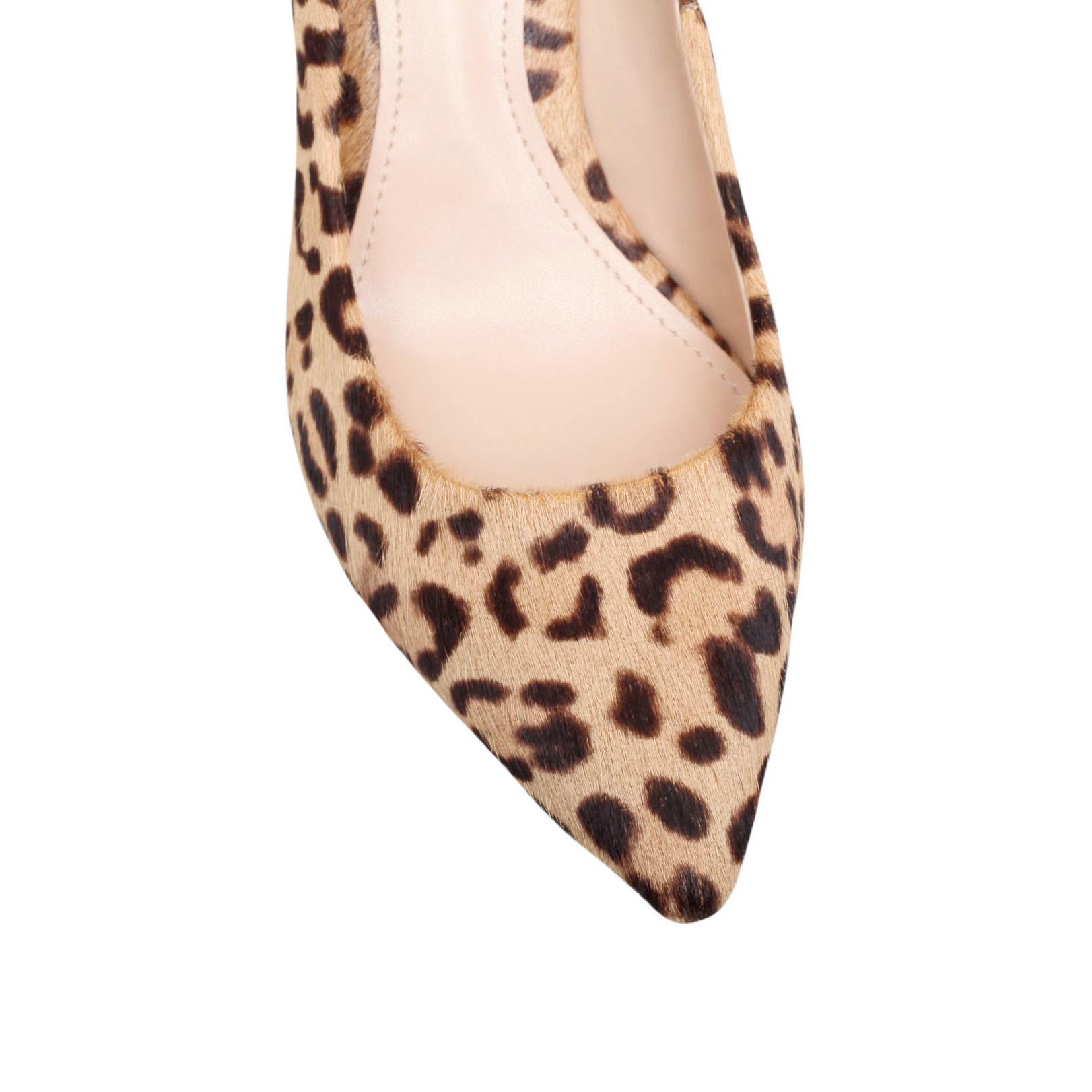 Leopard Print Court Shoes Mid Heel Size