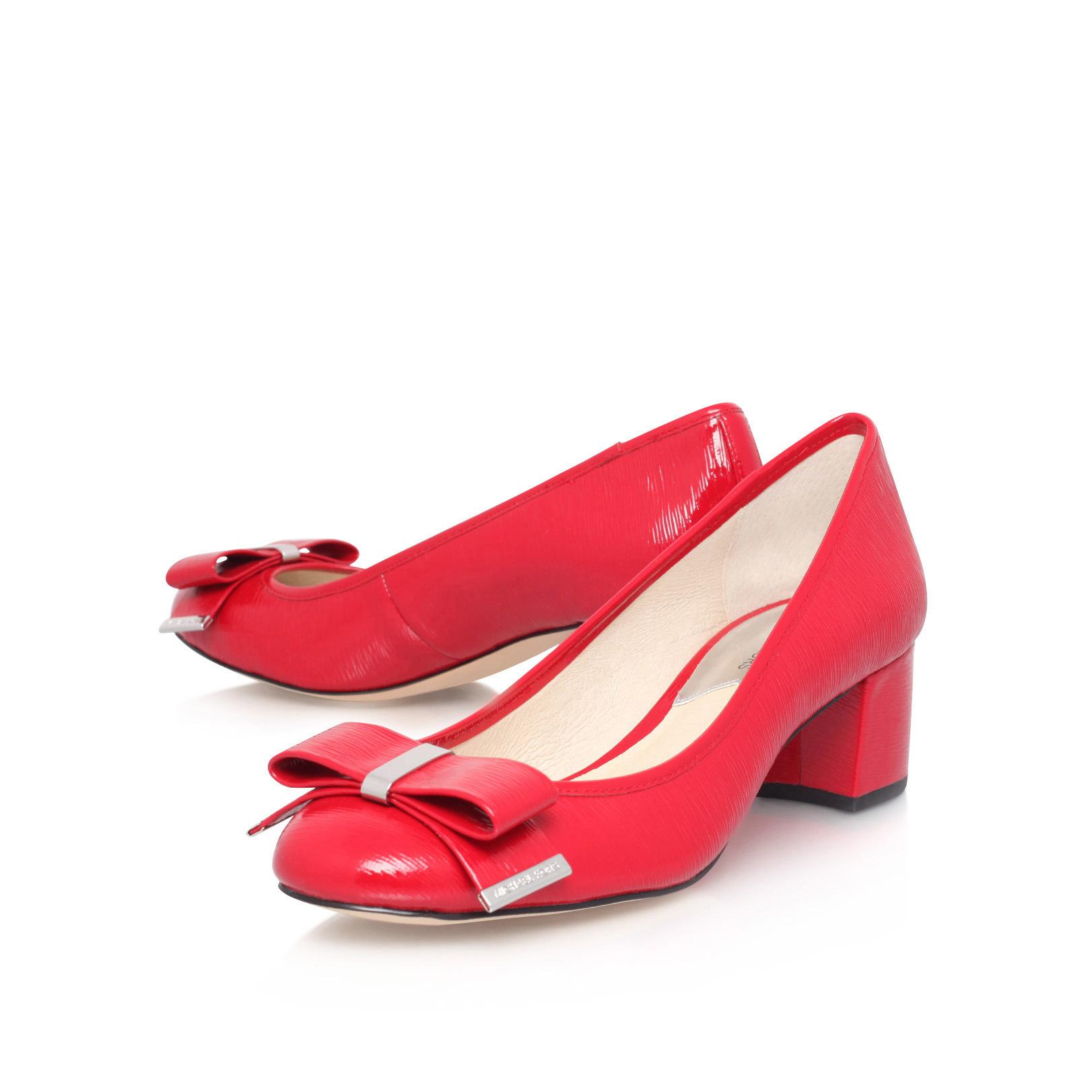 00b9c21aba39 KIERA MID PUMP Michael Michael Kors Kiera Mid Pump Red Patent Court ...