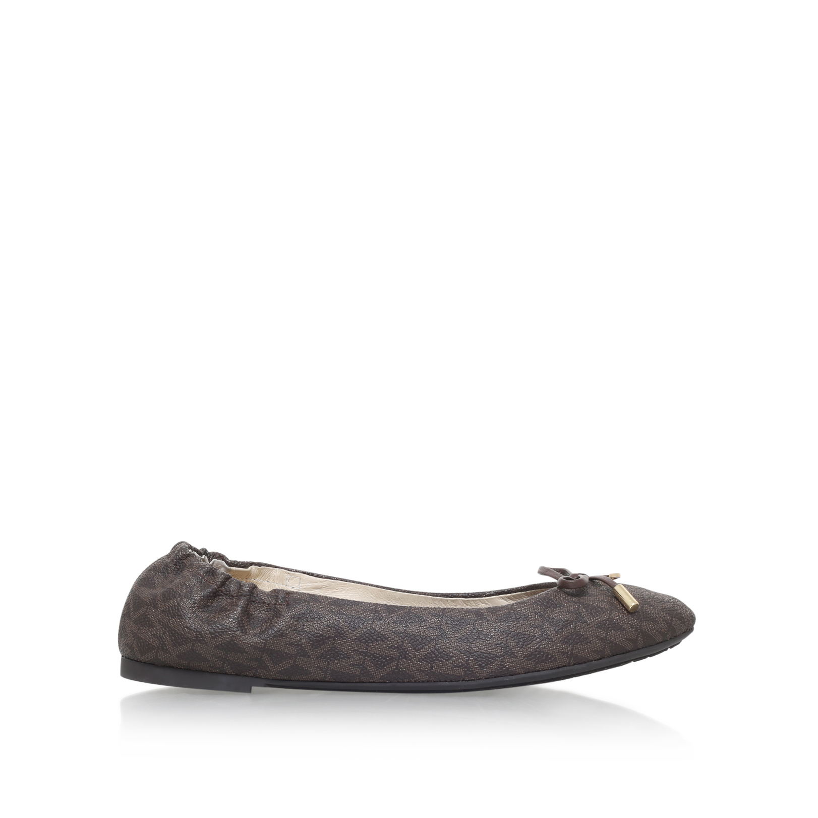 melody ballet michael michael kors melody ballet brown leather flats by michael michael kors. Black Bedroom Furniture Sets. Home Design Ideas