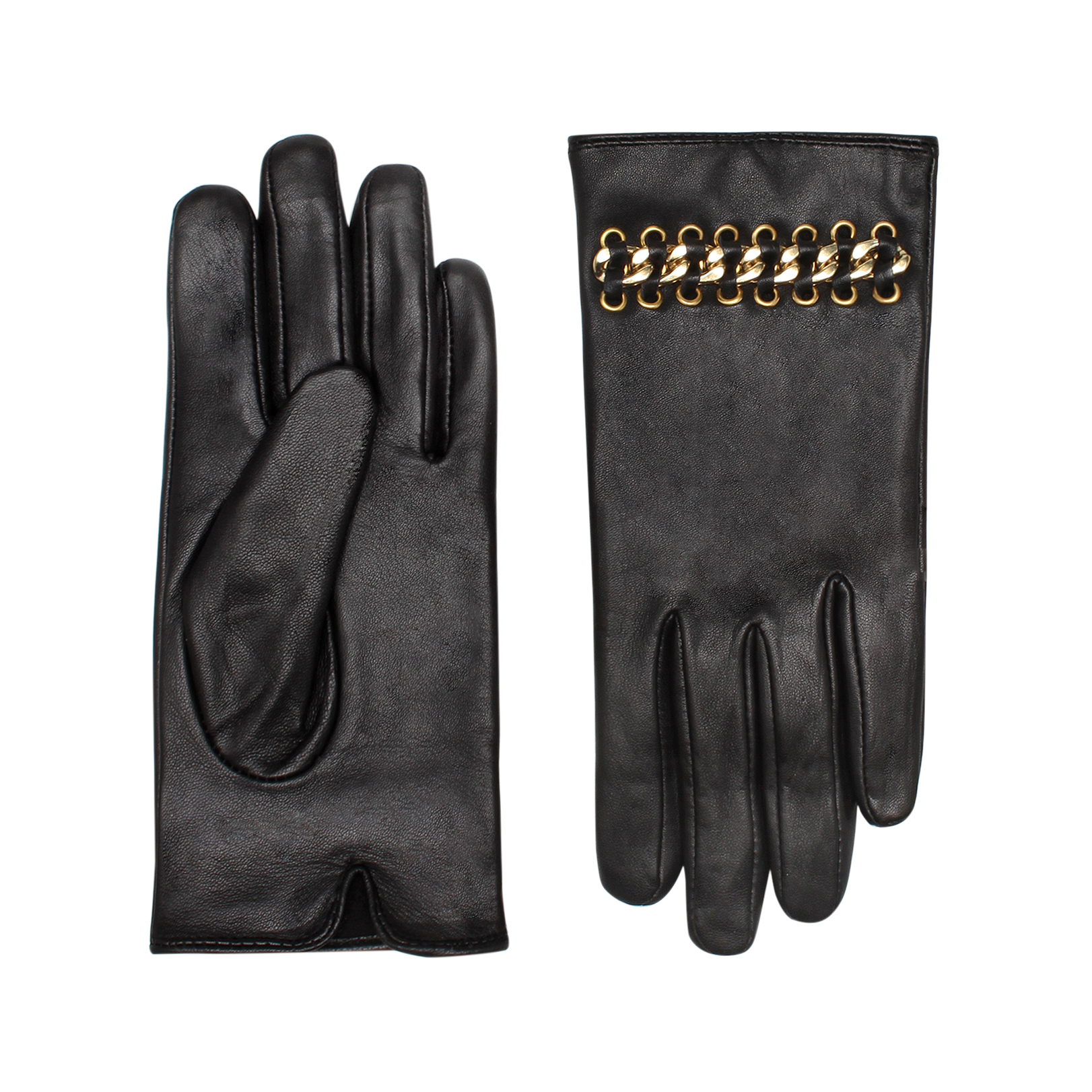 LEATHER   CHAIN GLOVES
