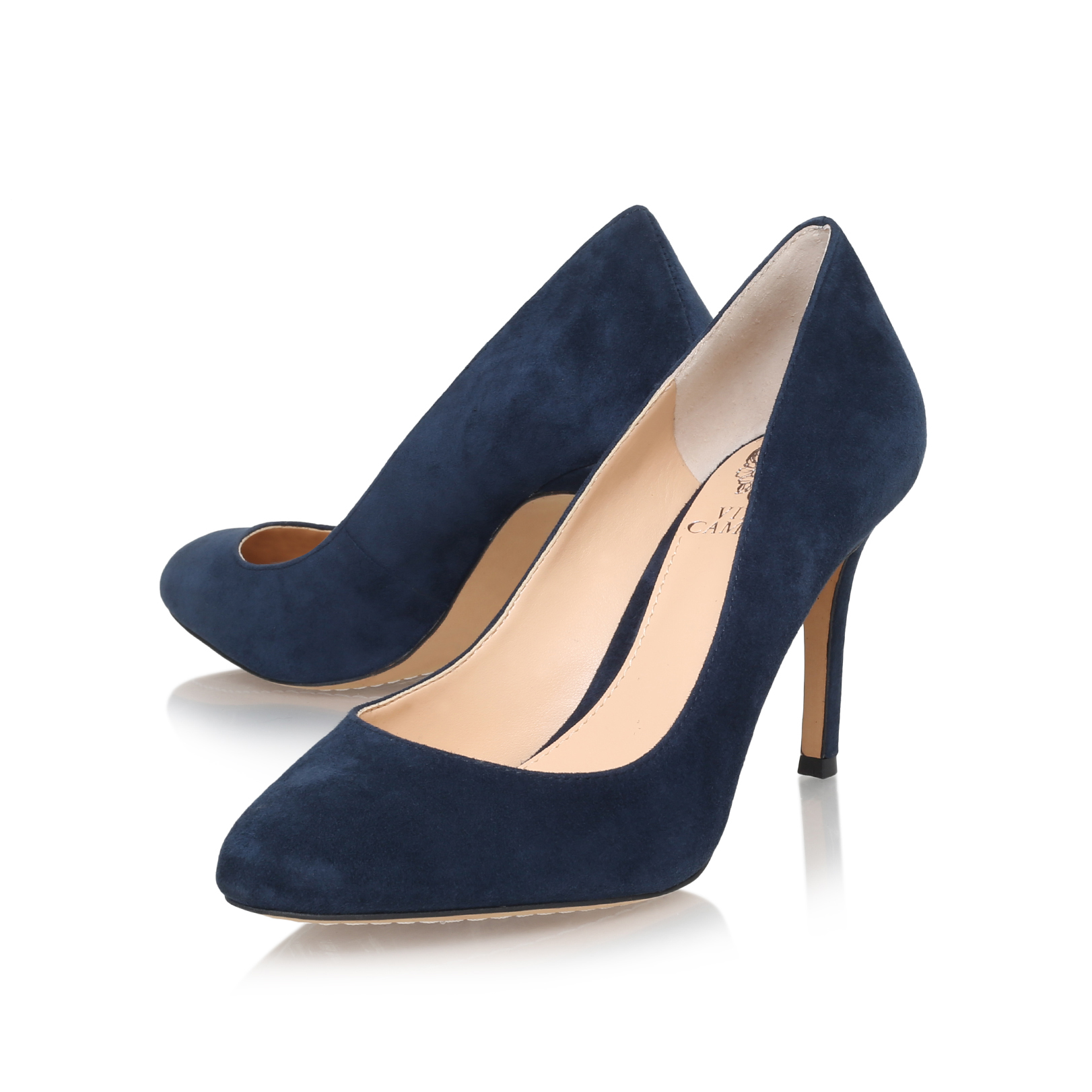11481787fdbd0 Vince Camuto   MAYRA Blue Mid Heel Court Shoes by VINCE CAMUTO