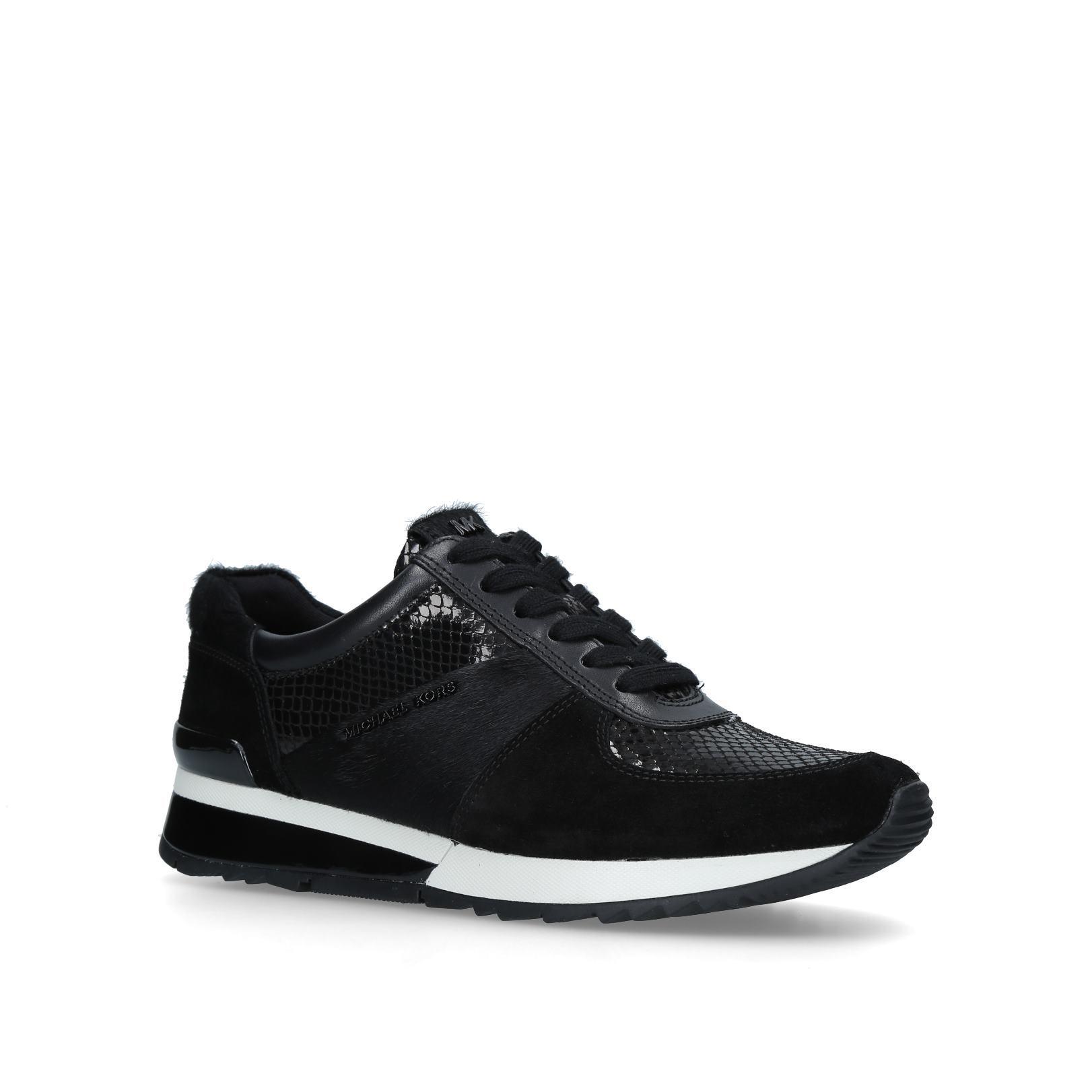 83f35972d9619 ALLIE WRAP TRAINER Allie Wrap Trainer No Heel Sneakers Michael Michael Kors  Black by MICHAEL MICHAEL KORS
